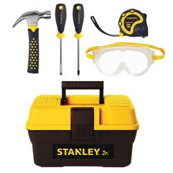 Stanley Tools - Kids Construction Toy Tool Set with Toolbox 5 PC - TBS001-05-SY