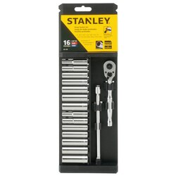 Stanley Tools - 16 pc Socket and Ratchet Set - 89-199