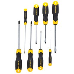 Stanley Tools - 8 pc CushionGrip Screwdriver Set - 91-541