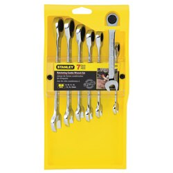 Stanley Tools - 7 pc Ratcheting Wrench Set Metric - 94-543W