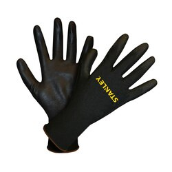 Stanley Tools - Black PolyurethaneCoated Machine Knit Polyester Gloves - S69321