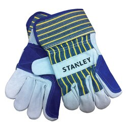 Stanley Tools - Select Cowhide Leather Double Palm Gloves - S73611