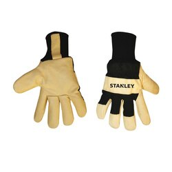 Stanley Tools - FleeceLined Goatskin Leather Palm Gloves - S89321