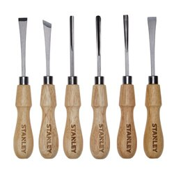 Stanley Tools - 6 pc Wood Carving Tool Set - STHT16863