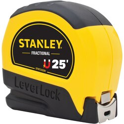 Stanley Tools - 25 ft Magnetic Tip  Fractional Read LEVERLOCK Tape Measure - STHT33281