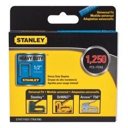 Stanley Tools - 1250 pc12 in Heavy Duty Narrow Crown Staples - STHT71837
