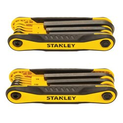 Stanley Tools - 2 pk Folding Metric and SAE Hex Keys - STHT71839