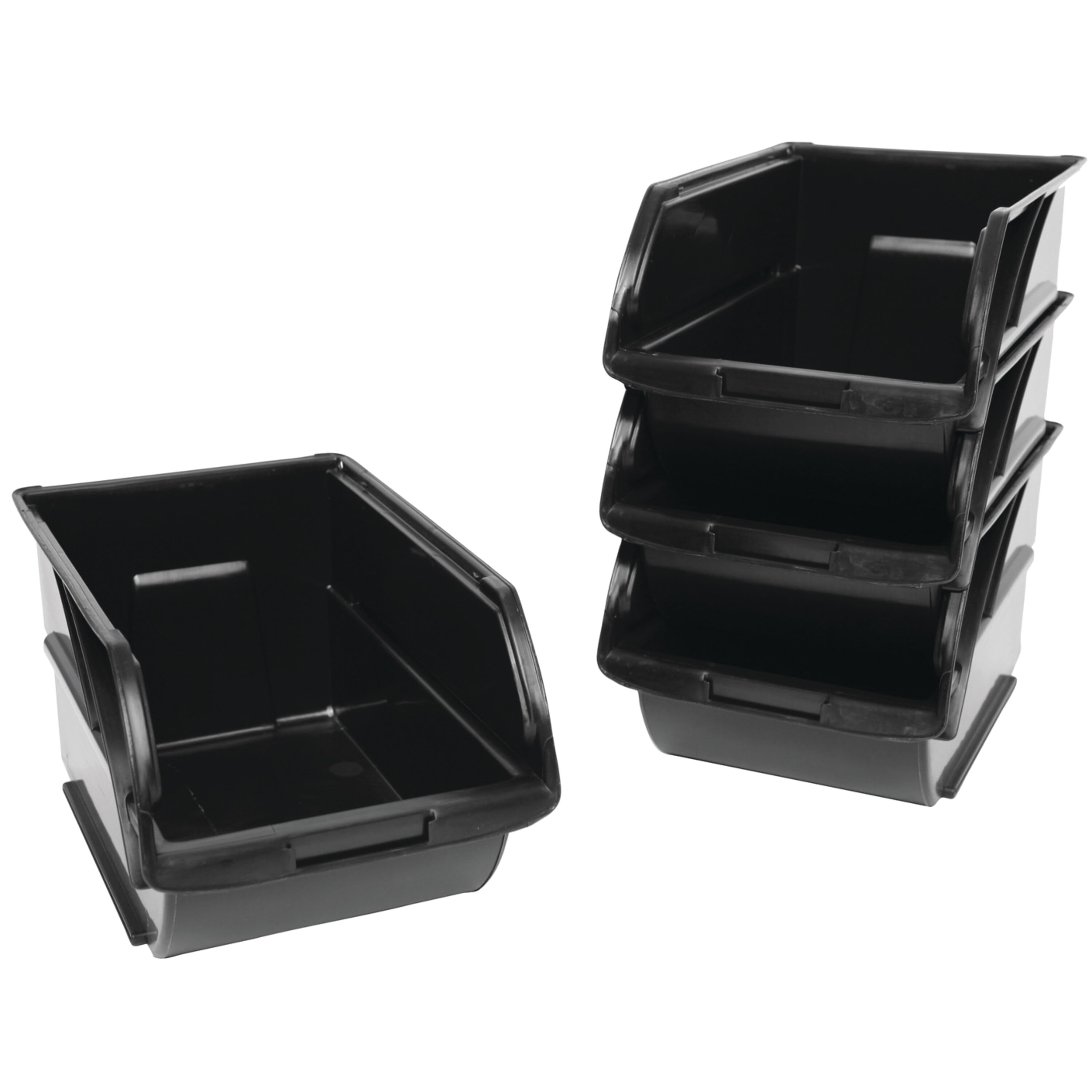 Stanley Tools - 4 pk Storage Bins with Wall Hangers - 057304R