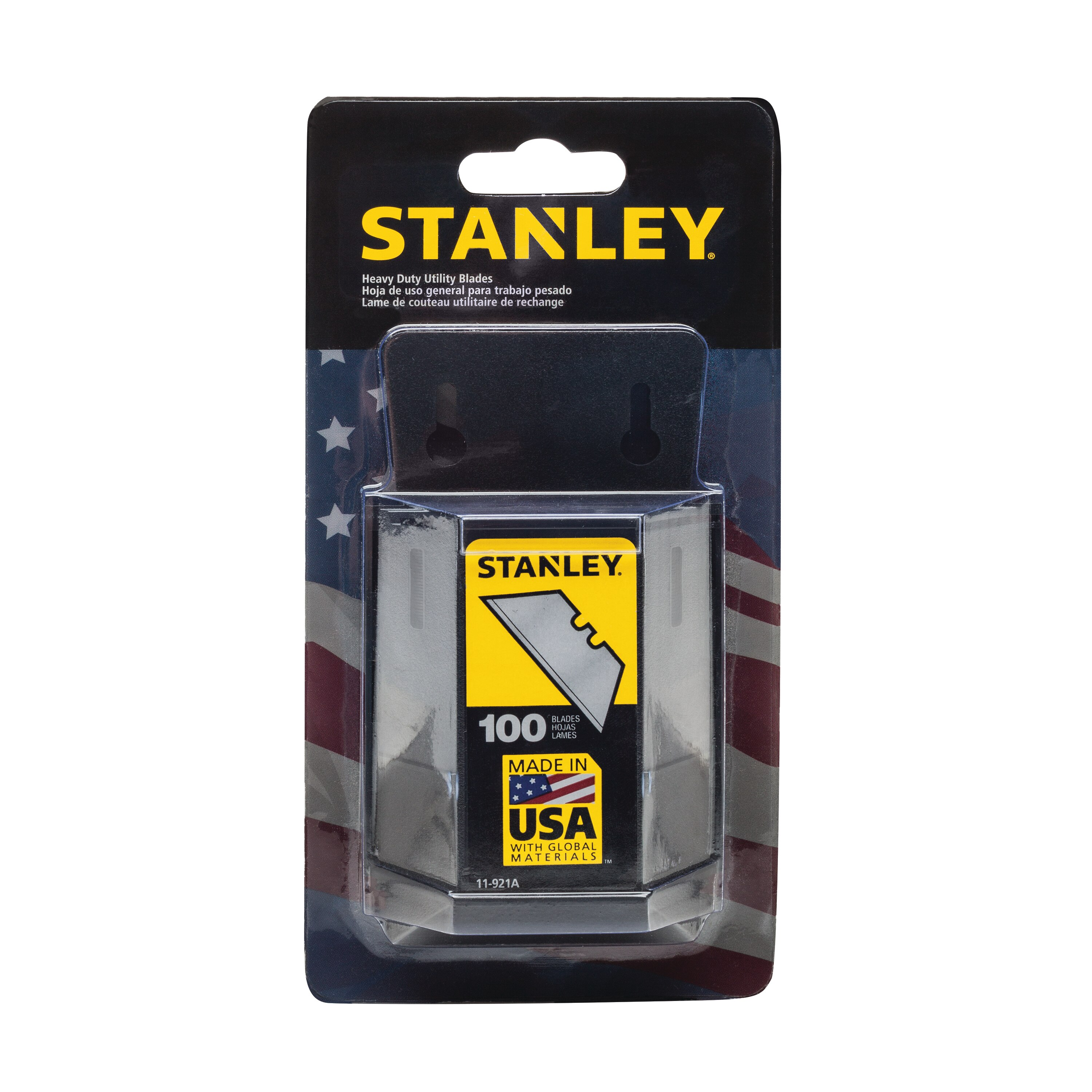 Stanley Tools - 100pack 1992 HeavyDuty Utility Blades with Dispenser - 11-921A