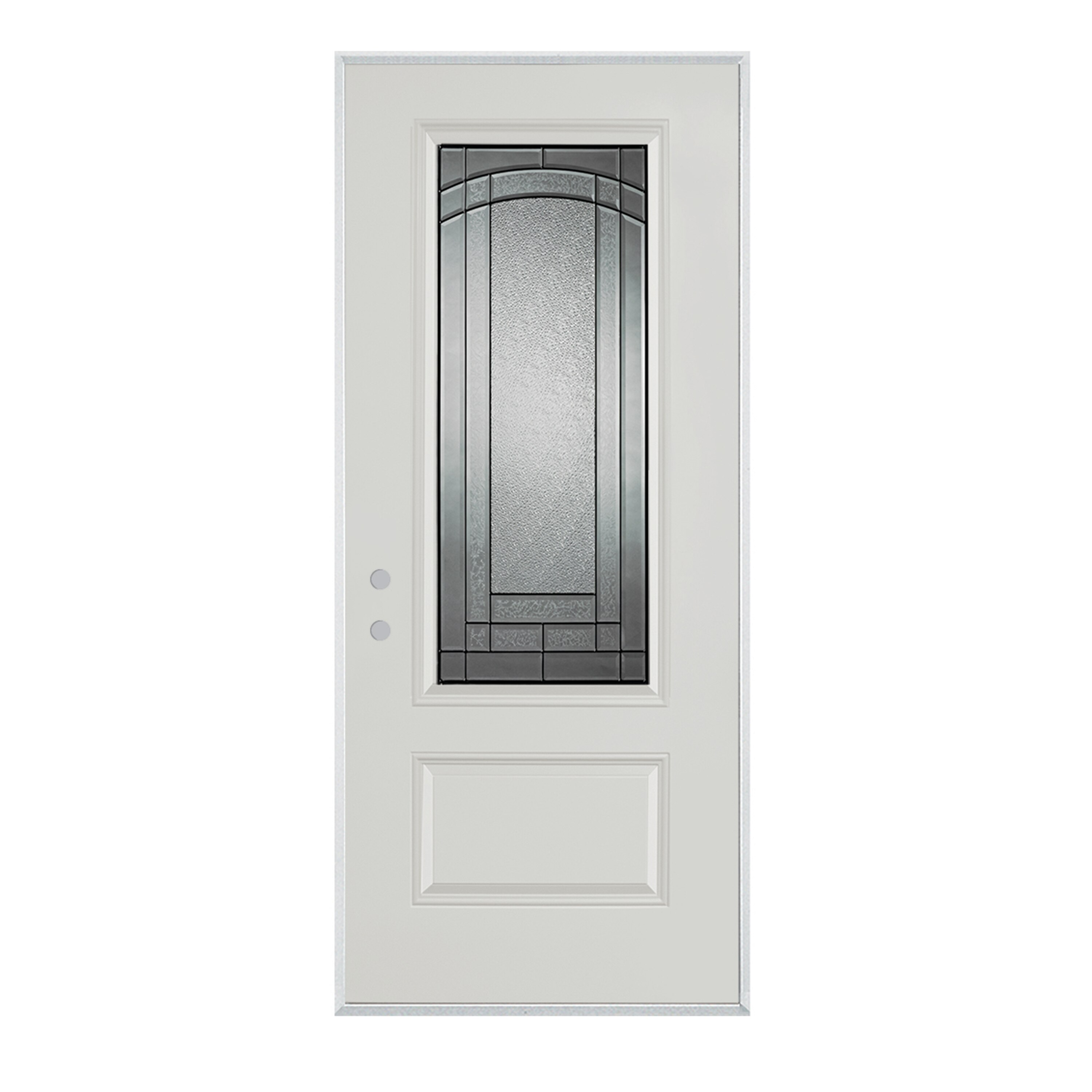 Stanley Tools - Chatham 34 Lite 1Panel Painted Steel Prehung RightHand Entry Door - 1538E-BN-36-R