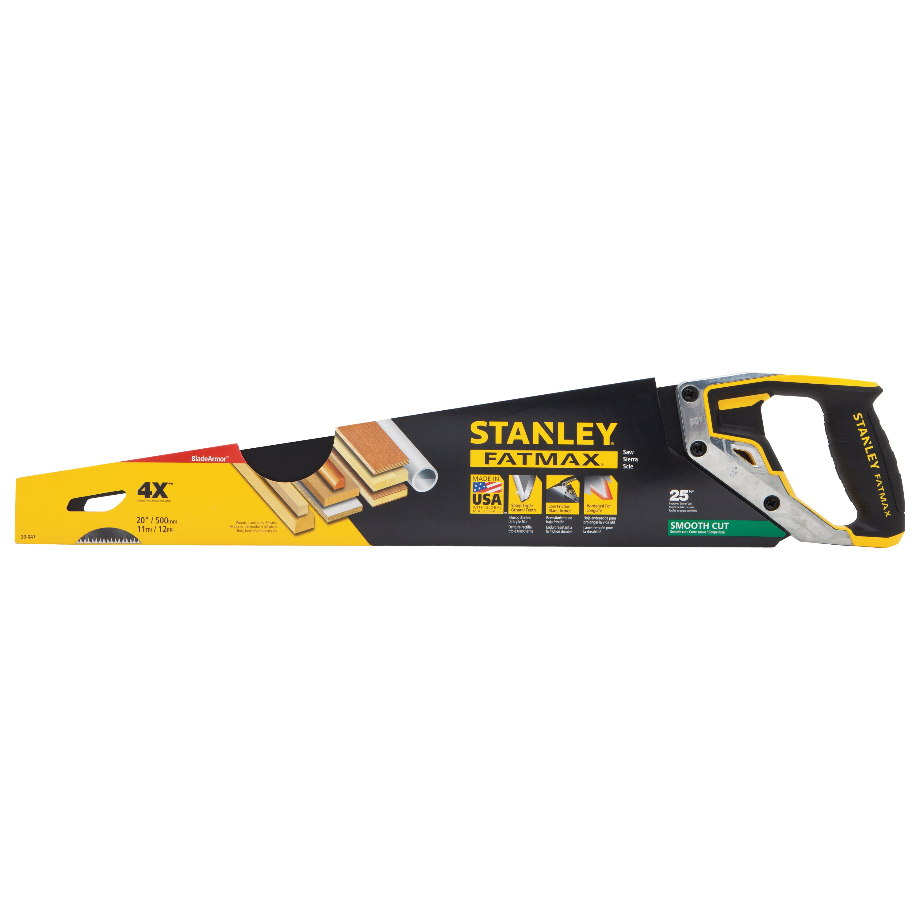 Stanley Tools - 20 in FATMAX TriMaterial Hand Saw - 20-047