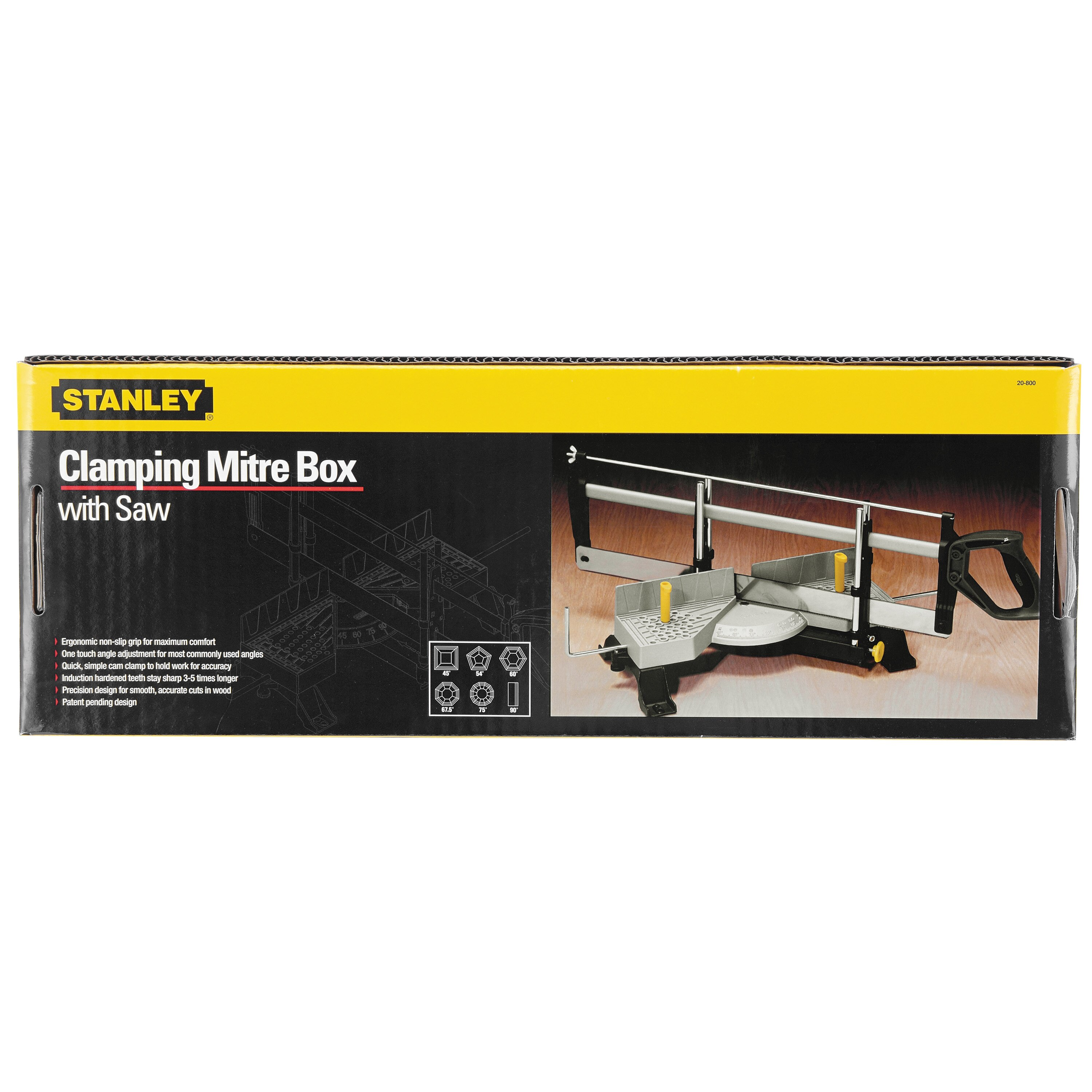 Stanley Tools - Adjustable Angle Clamping Miter Box with 22 in Saw - 20-800