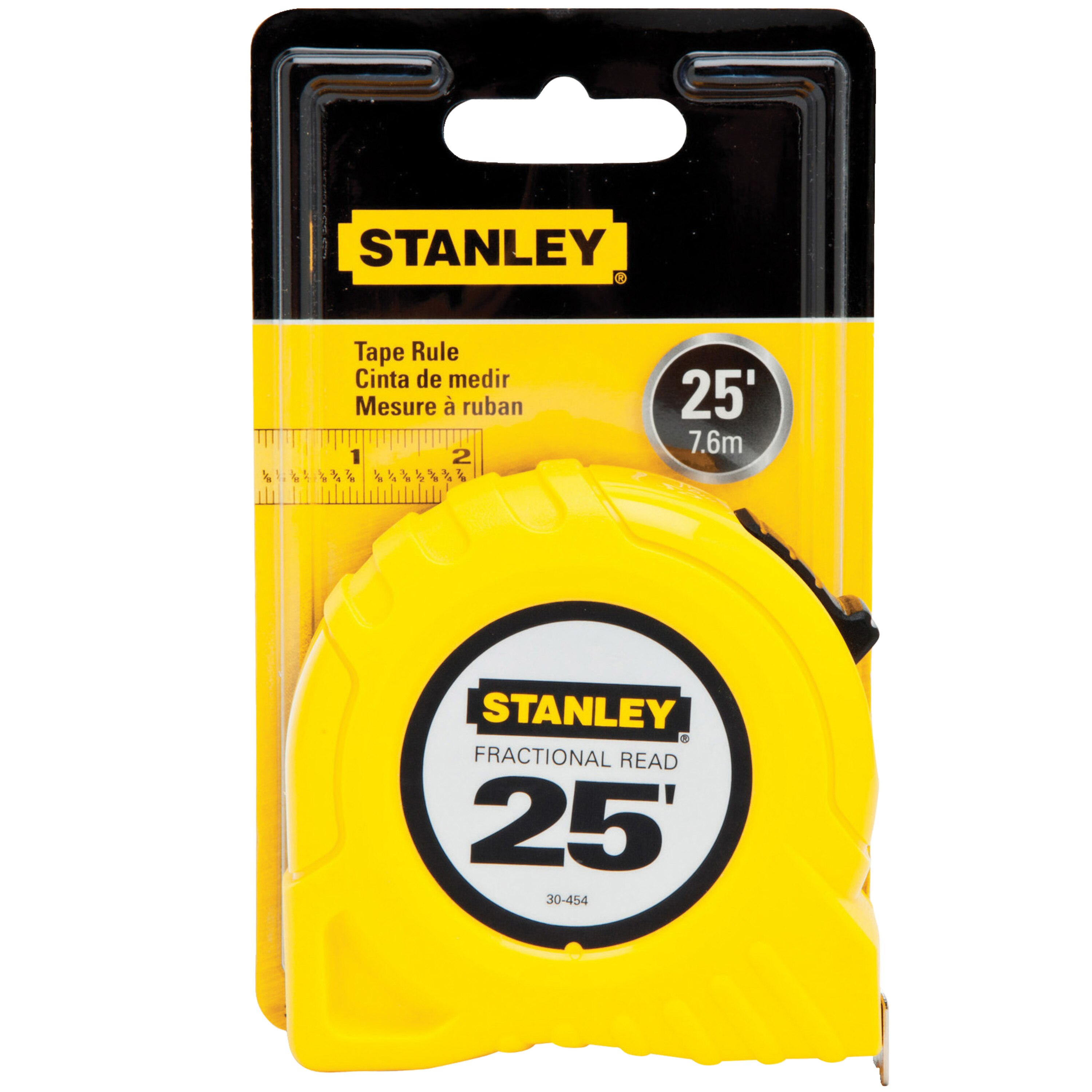 Stanley Tools - 25 ft Fractional Read Tape Measure - 30-454