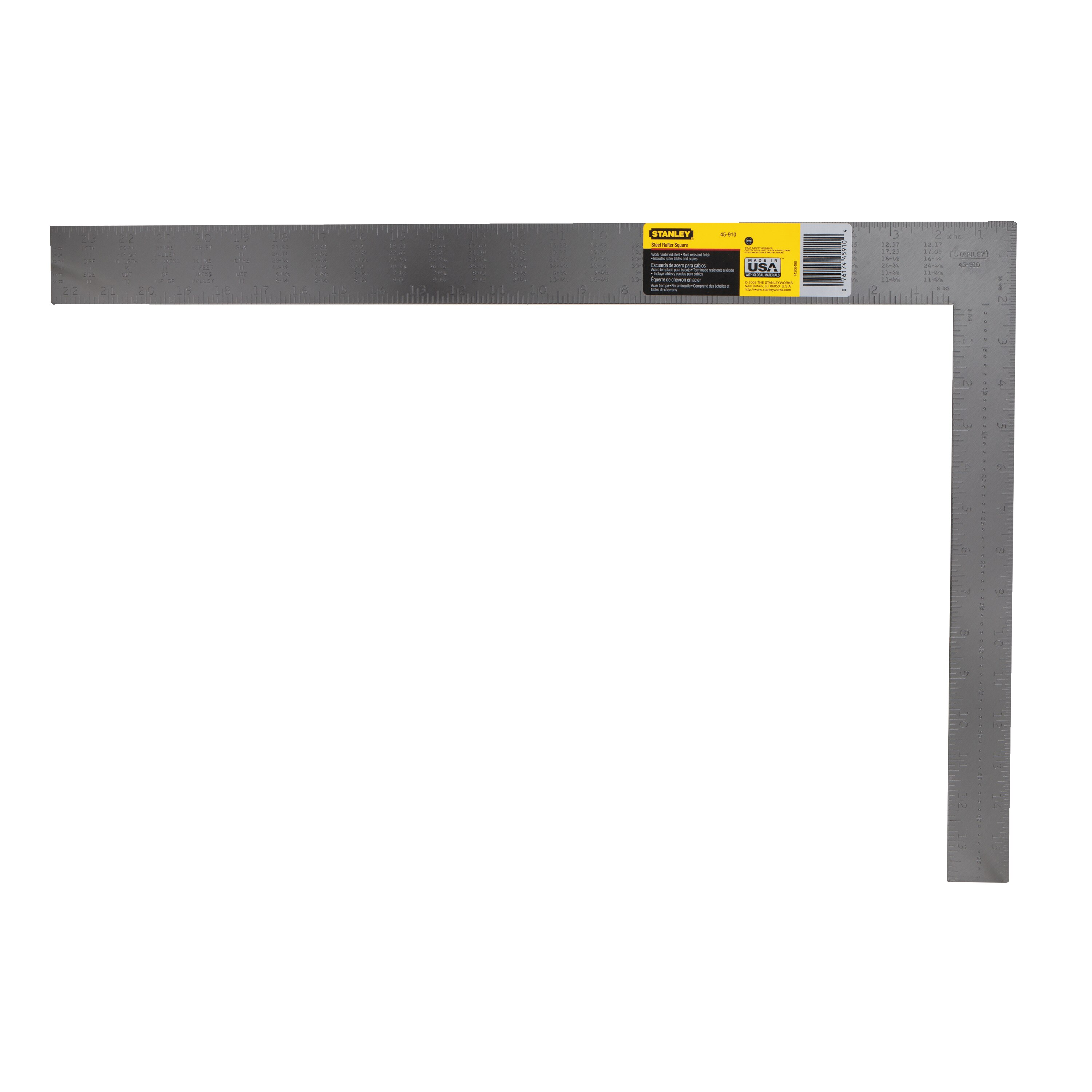 Stanley Tools - 24 in Steel English RafterRoofing Square - 45-910