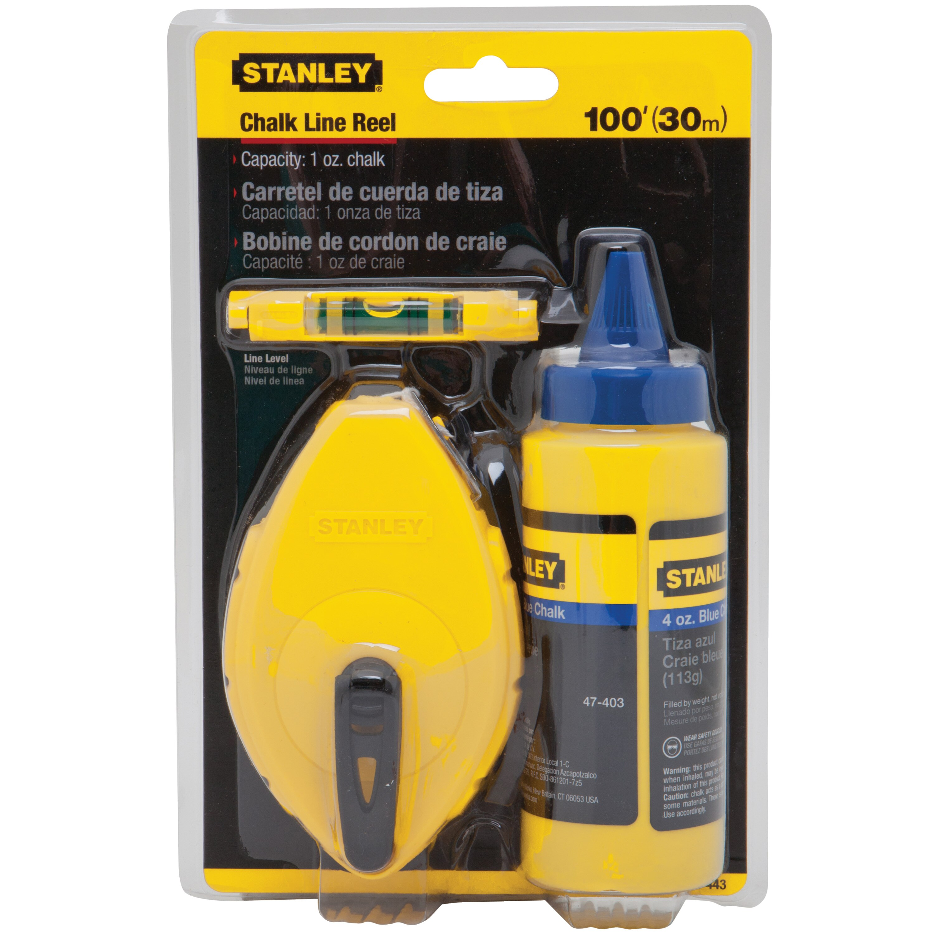 Stanley Tools - 3 pc Chalk Box Set - 47-443