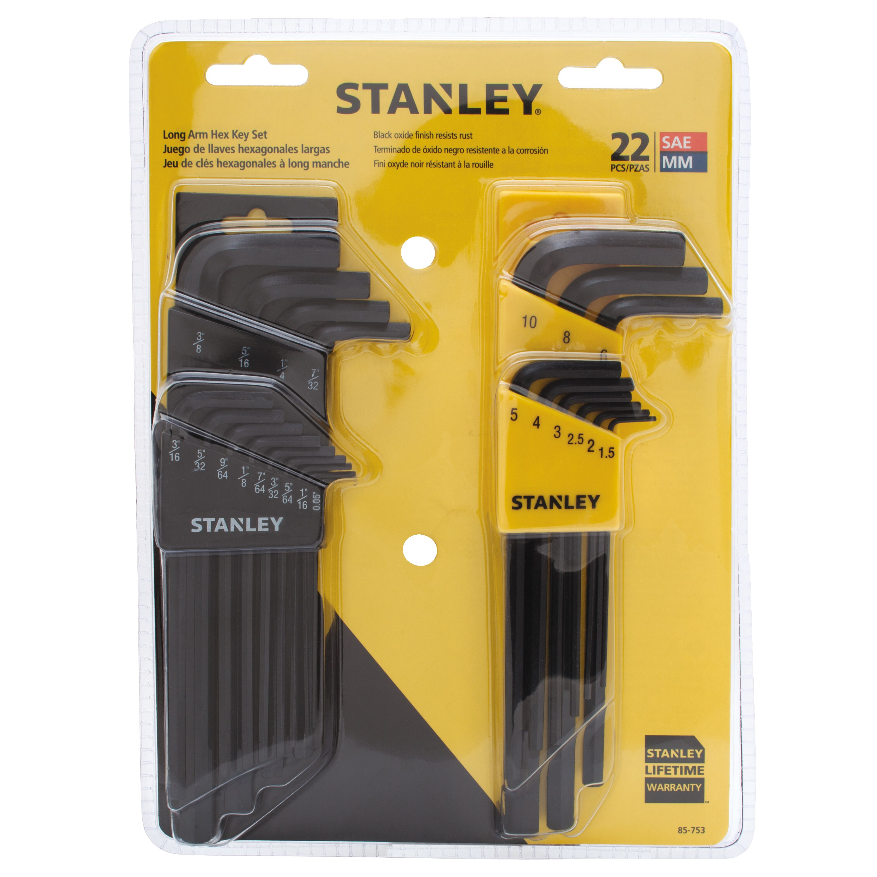 Stanley Tools - 22 pc Hex Key Set - 85-753