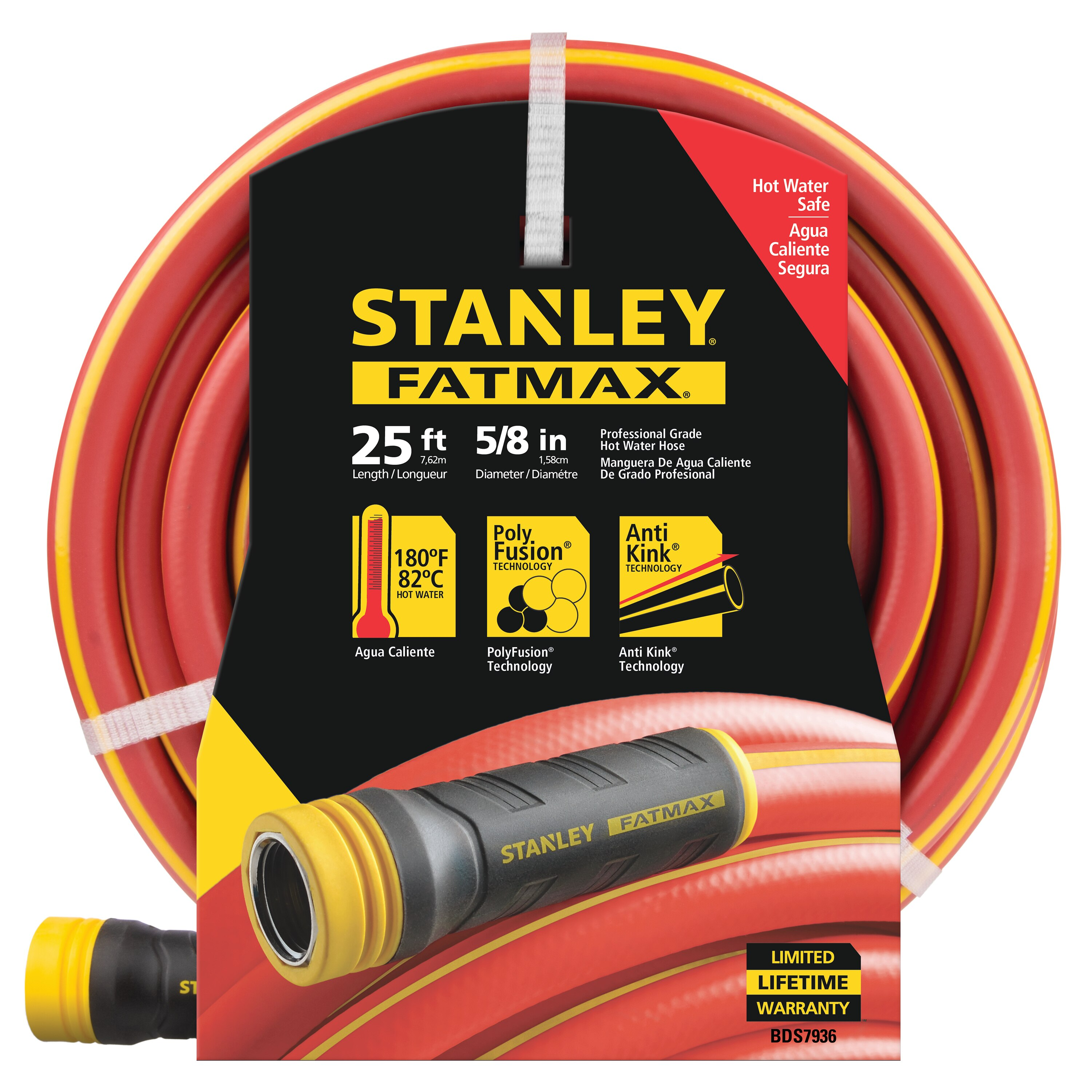Stanley Tools - 25 ft X 58 in FATMAX POLYFUSION HOT WATER HOSE - BDS7936