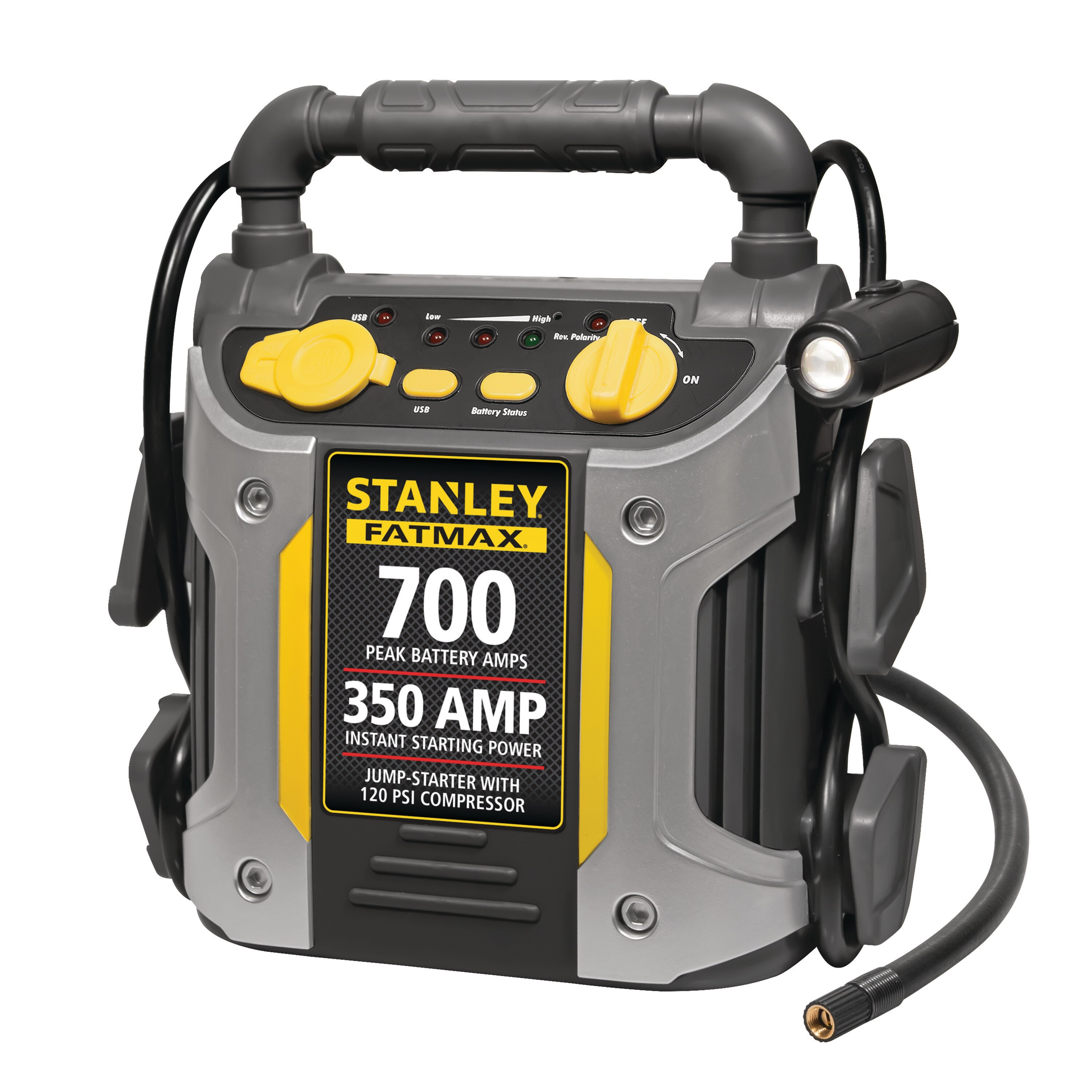 Stanley Tools - 350 Instant  700 PEAK Battery Amp Jump Starter with Compressor - J7CS