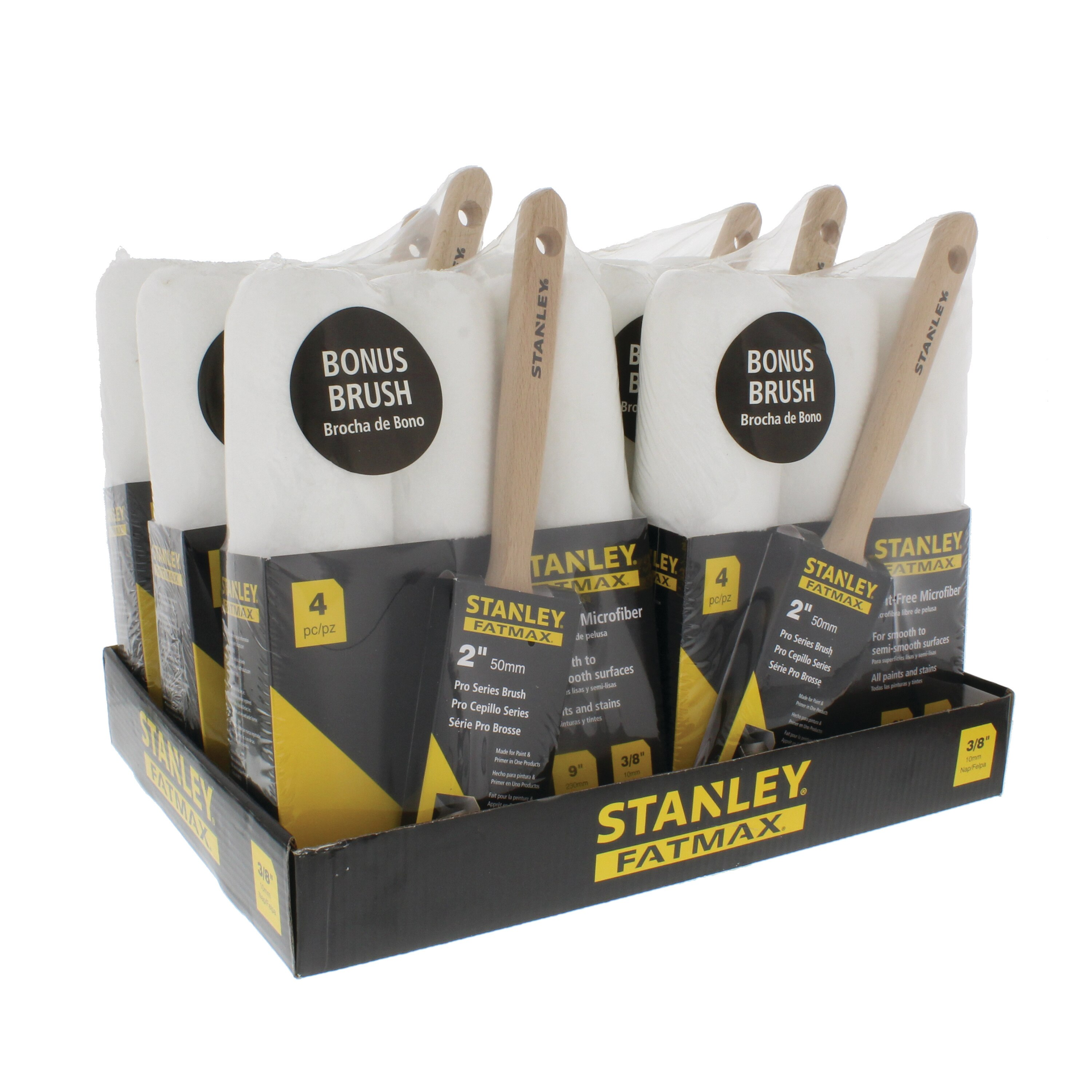 Stanley Tools - 4 pc FATMAX Professional Roller and Paint Brush Kit - PTST03504