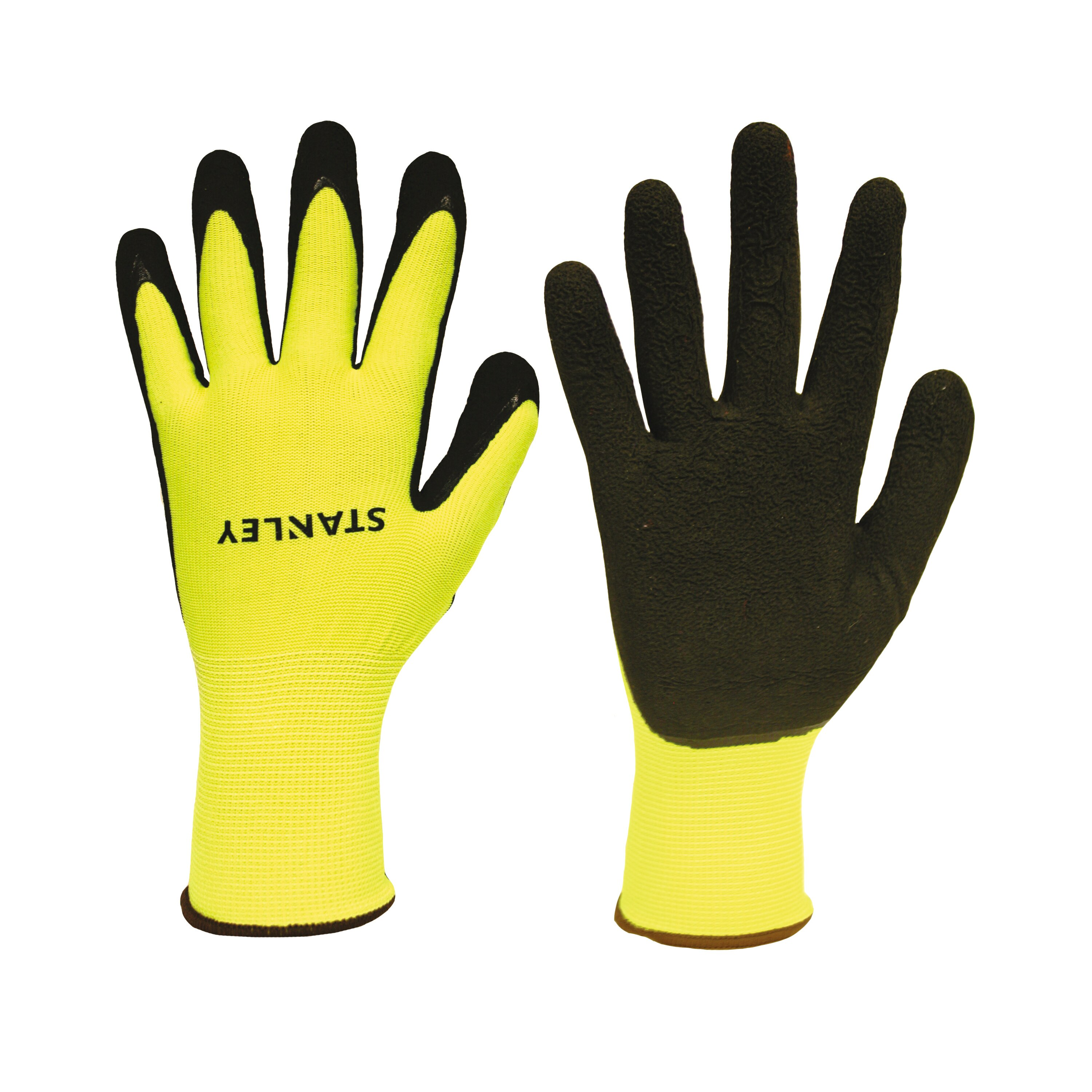 Stanley Tools - HiVis Foam LatexCoated Gloves - S38771