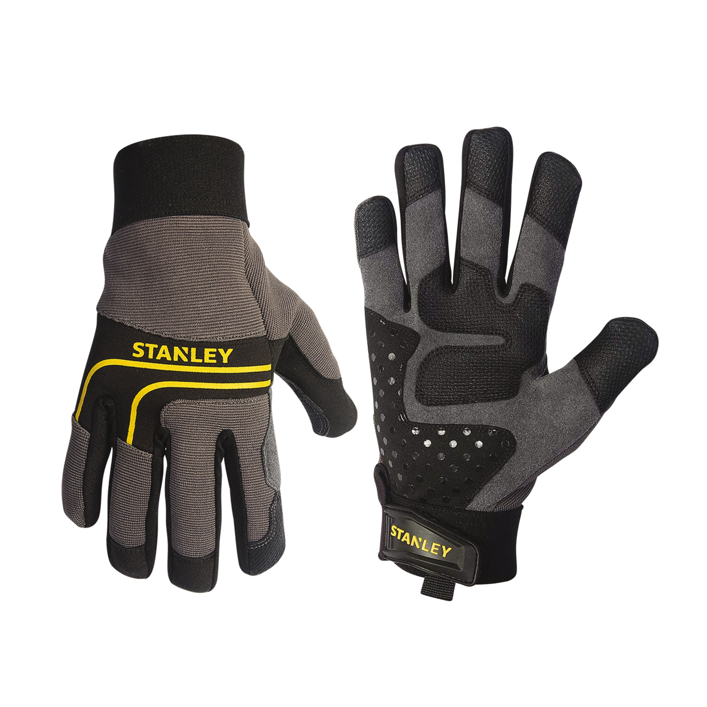 Stanley Tools - Synthetic Leather MultiPurpose Gloves with Silicone Dotting - S77652