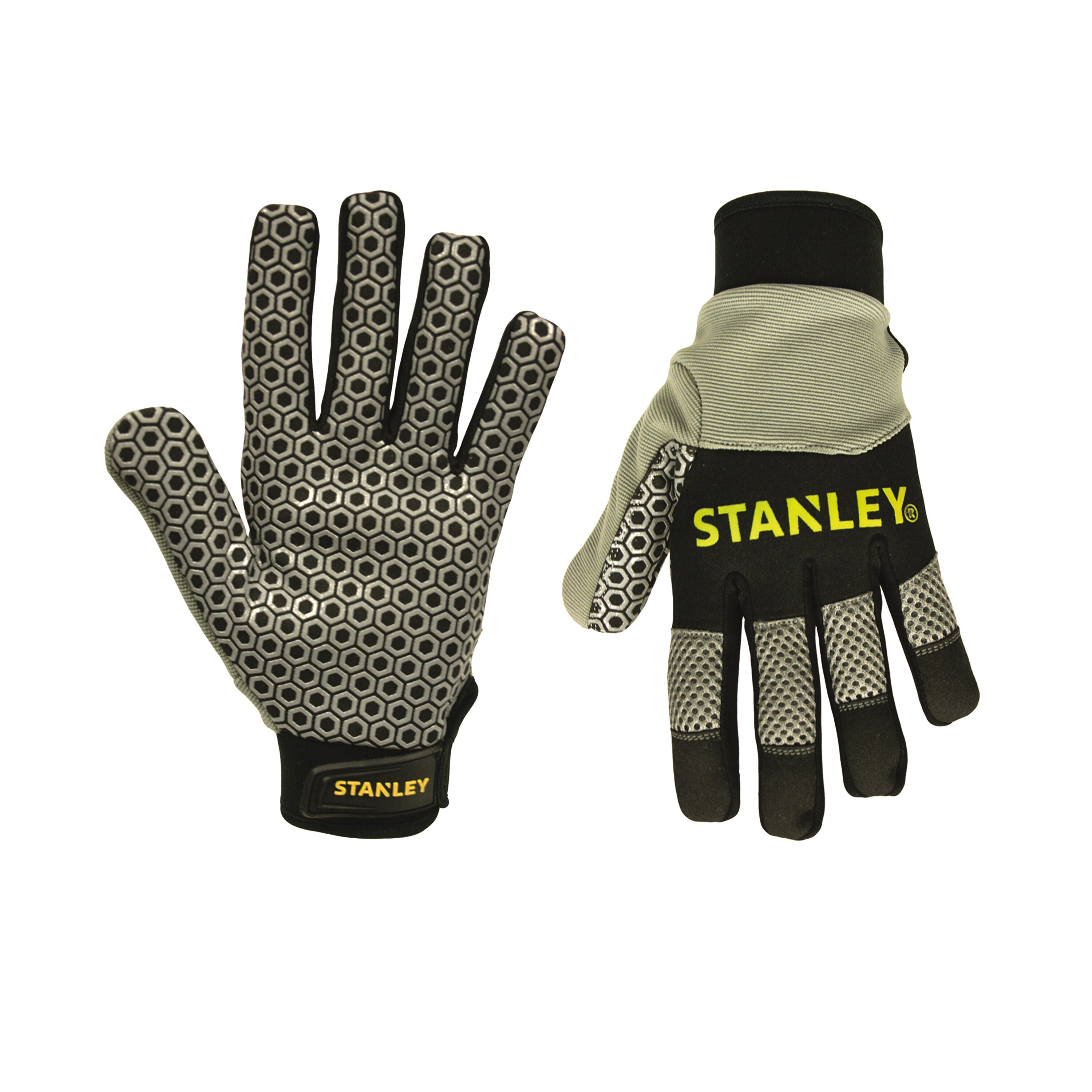 Stanley Tools - Silicone Gripper Synthetic Leather Palm with Neoprene Knuckle Protector - S77701