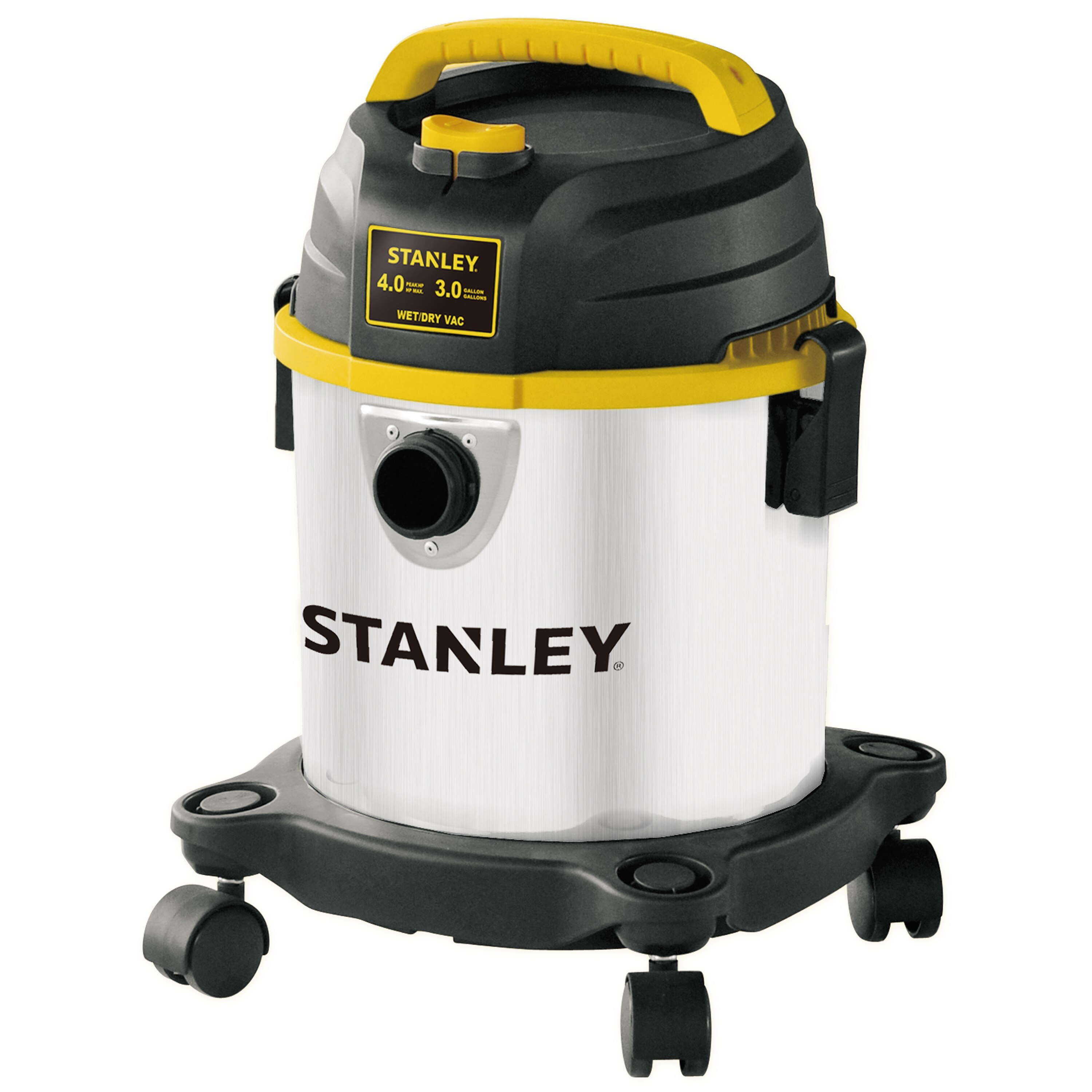 Stanley Tools - 3 Gallon 4 MAX HP Portable Stainless Steel Vacuum - SL18136