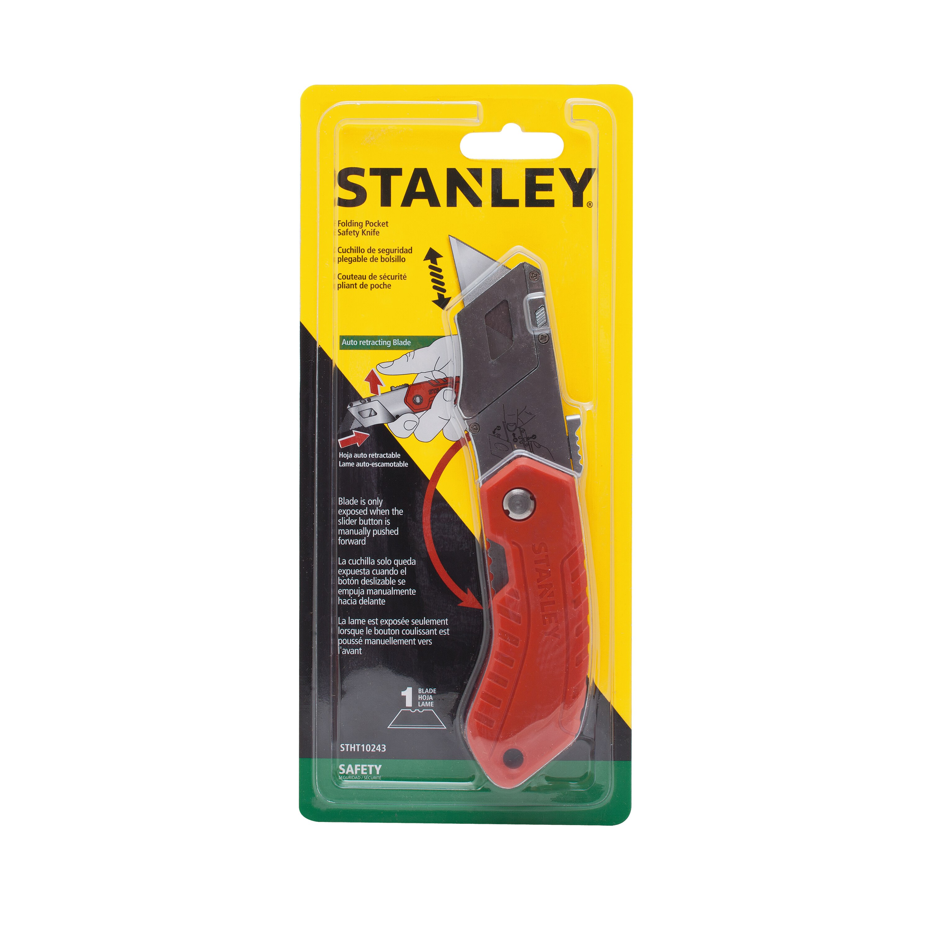 Stanley Tools - Folding Pocket Safety Knife - STHT10243