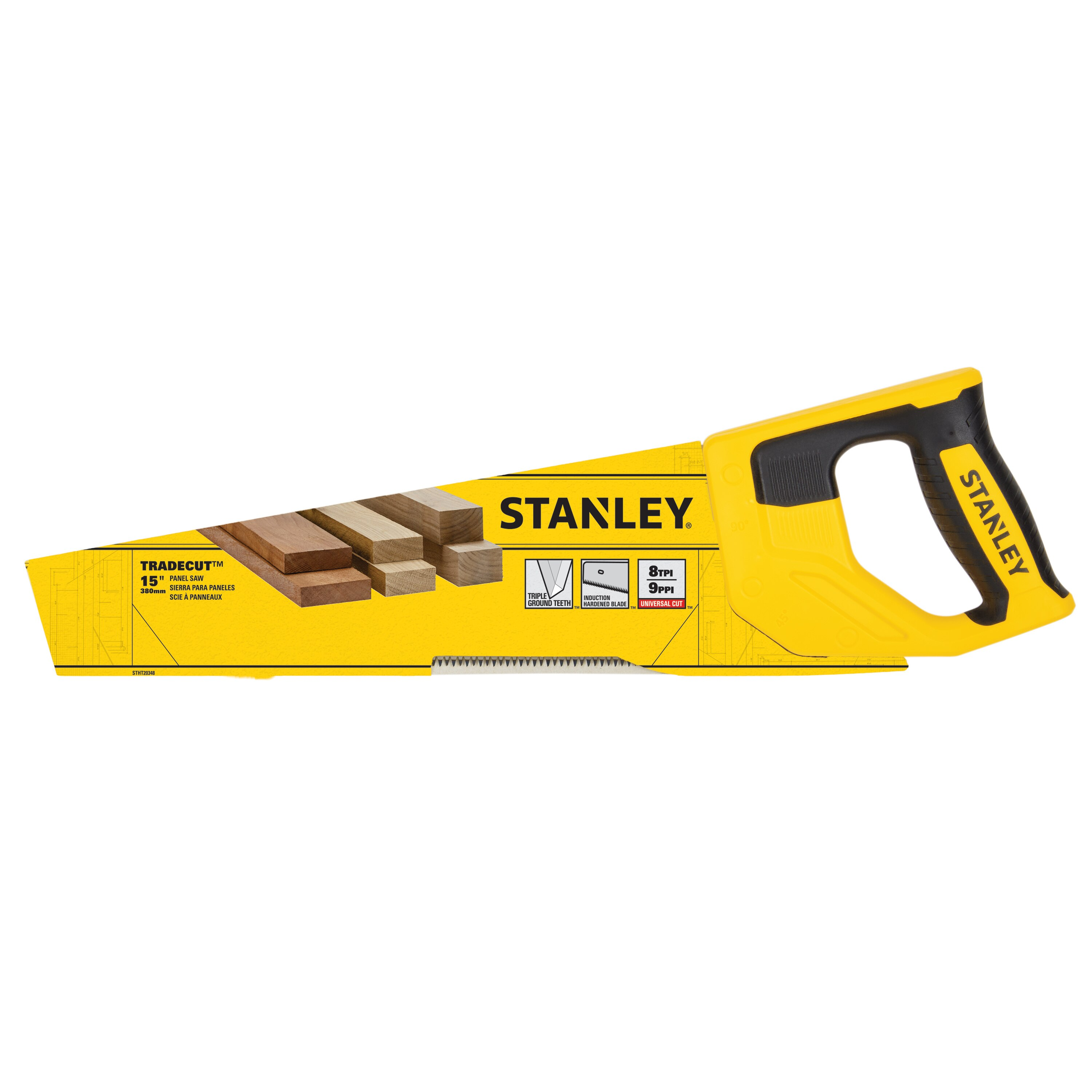 Stanley Tools - 15 in TRADECUT Panel Saw - STHT20348