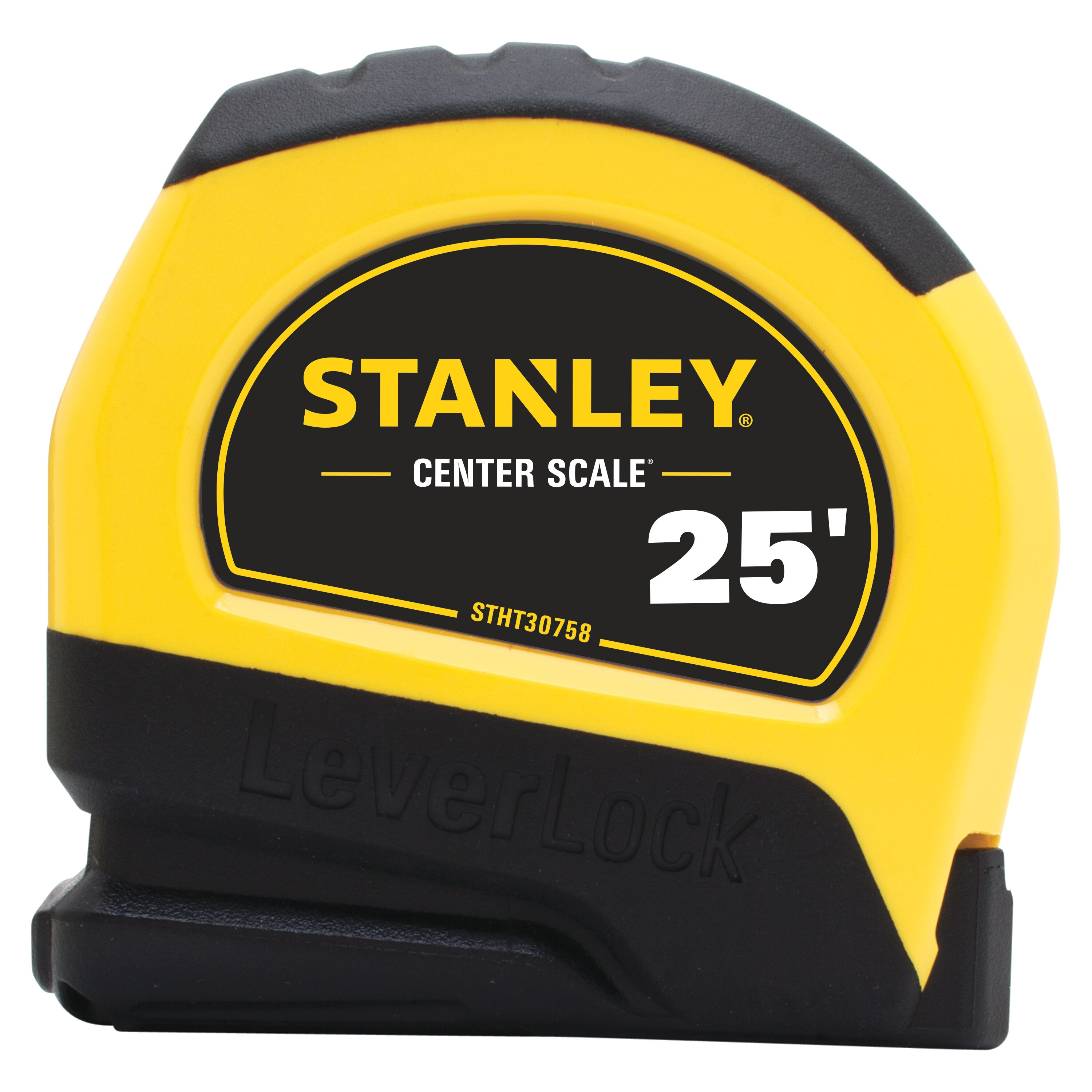 Stanley Tools - 25 ft Center Read LEVERLOCK Tape Measure - STHT30758L