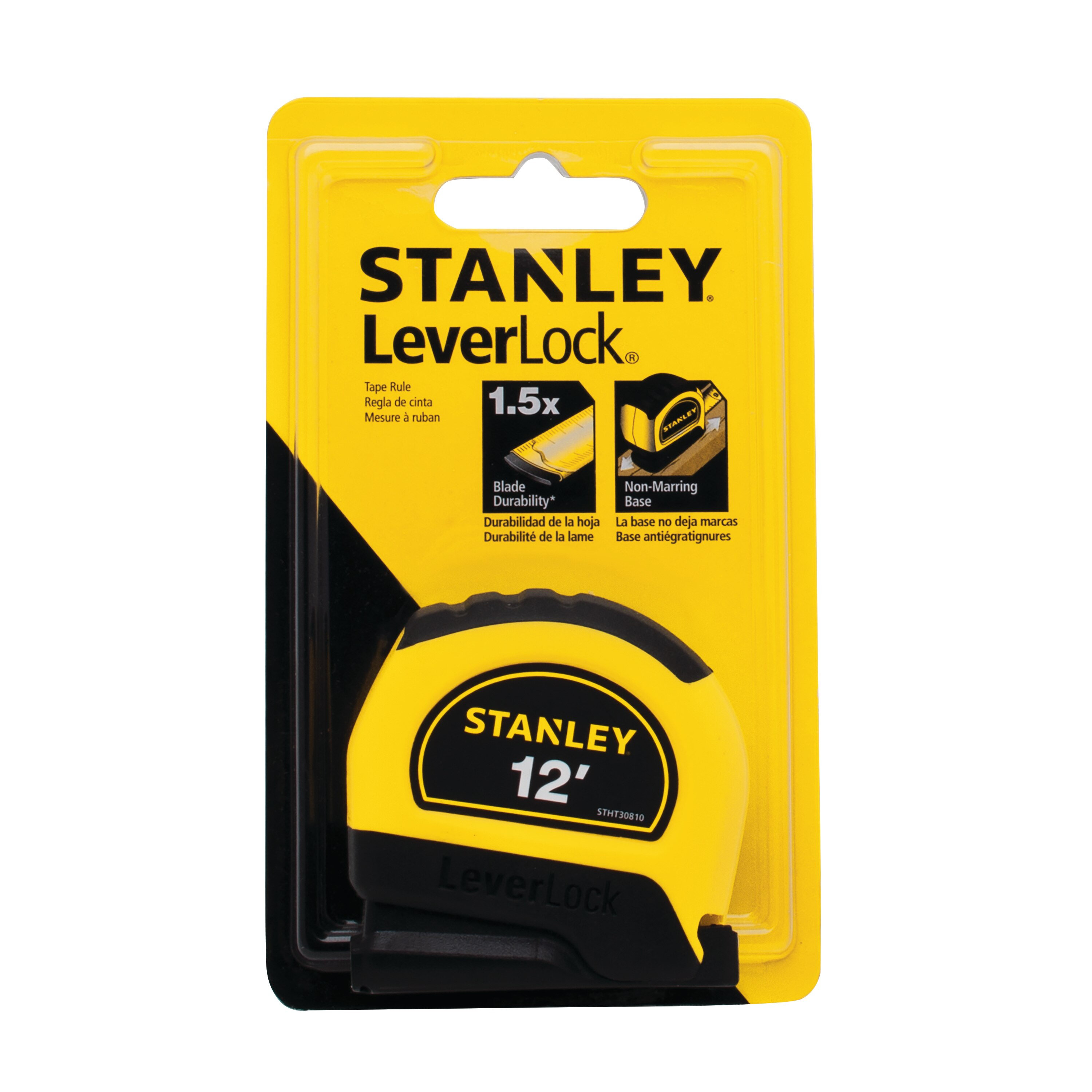 Stanley Tools - 12 ft LEVERLOCK Tape Measure - STHT30810