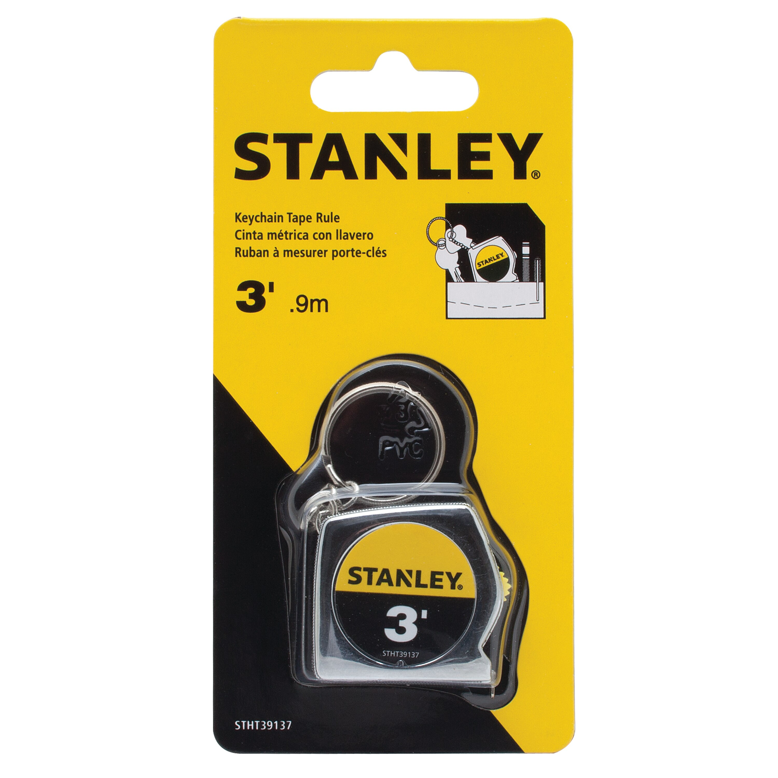 Stanley Tools - 3 ft Keychain Tape Measure - STHT39137