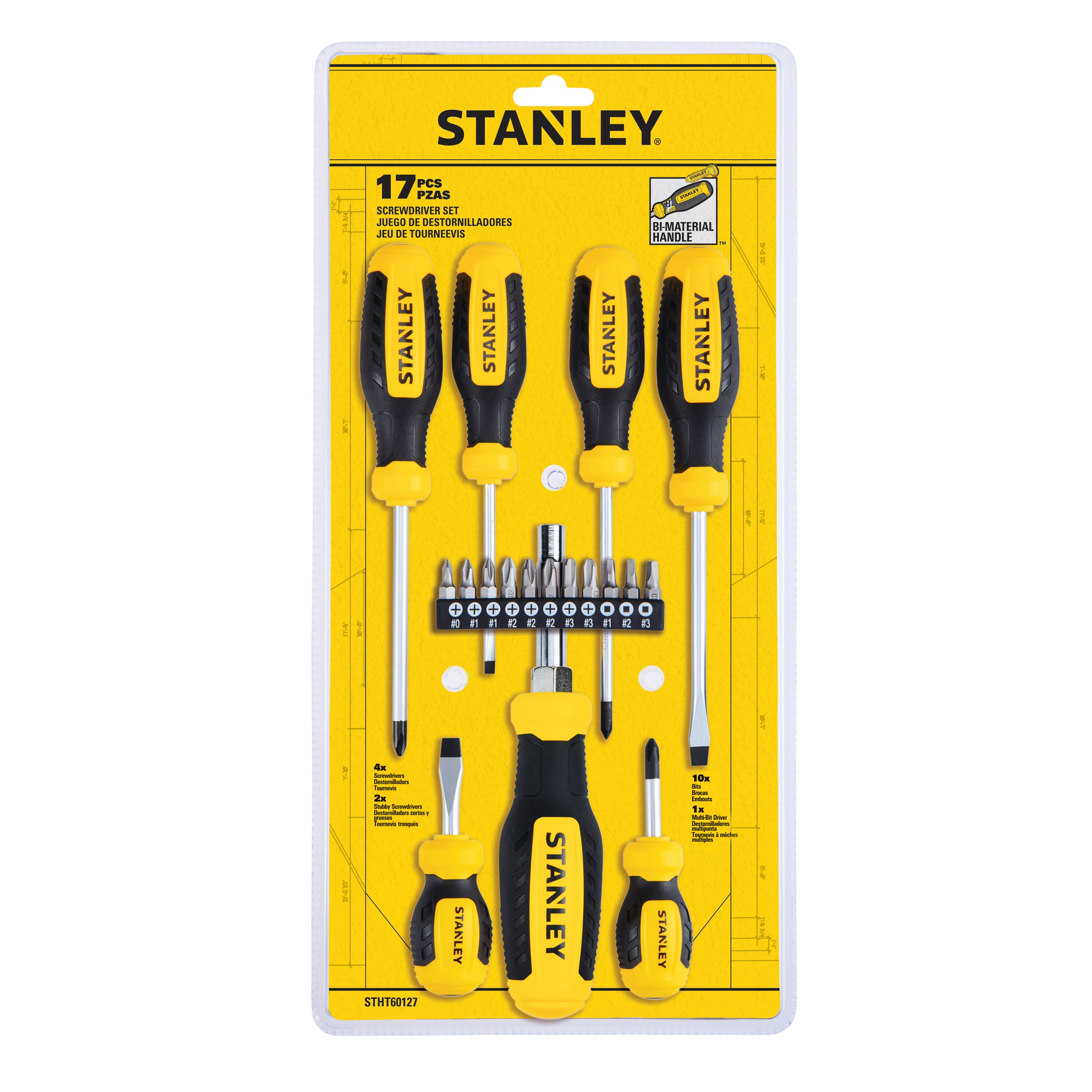 Stanley Tools - 17 pc Screwdriver Set - STHT60127