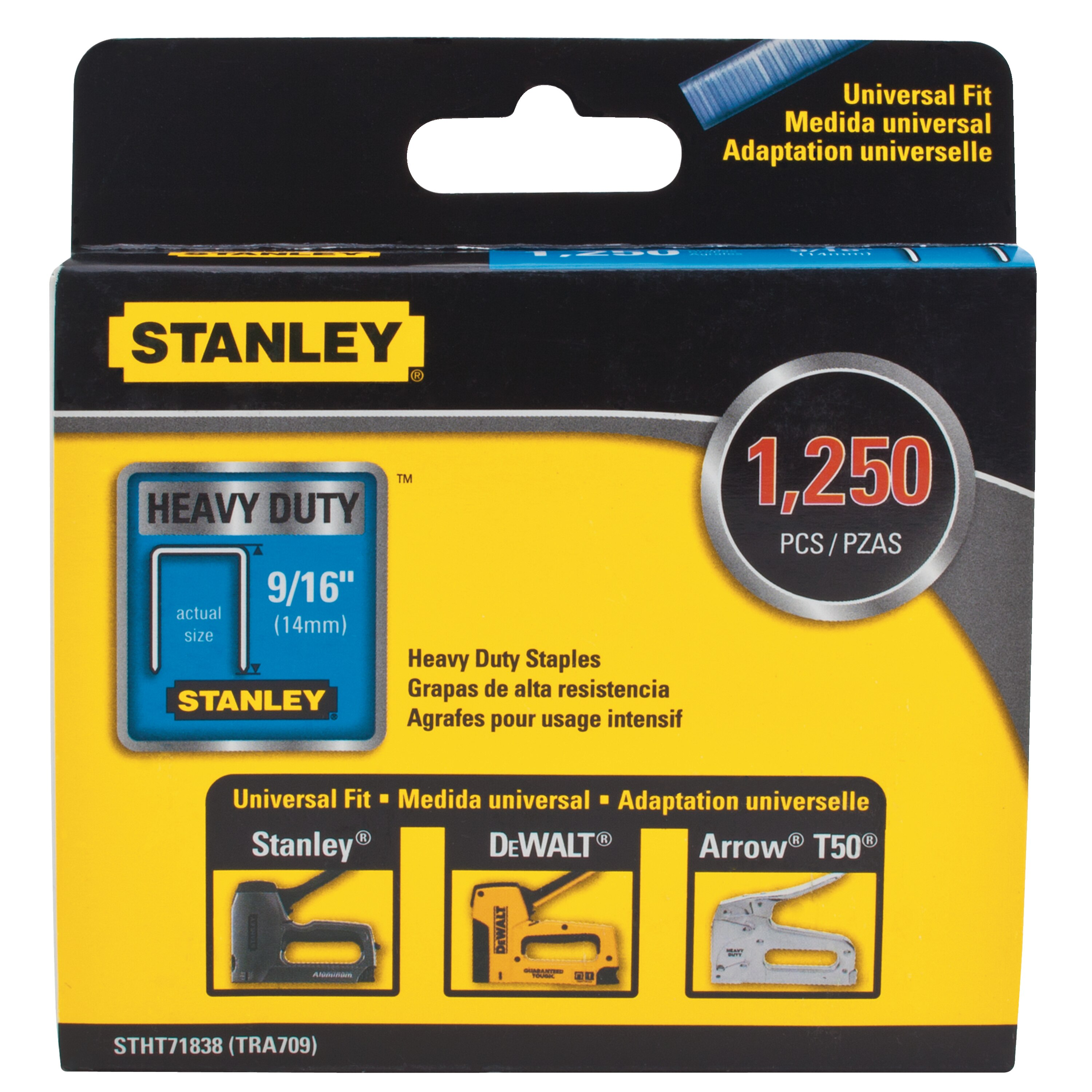 Stanley Tools - 1250 pc 916 in Heavy Duty Narrow Crown Staples - STHT71838