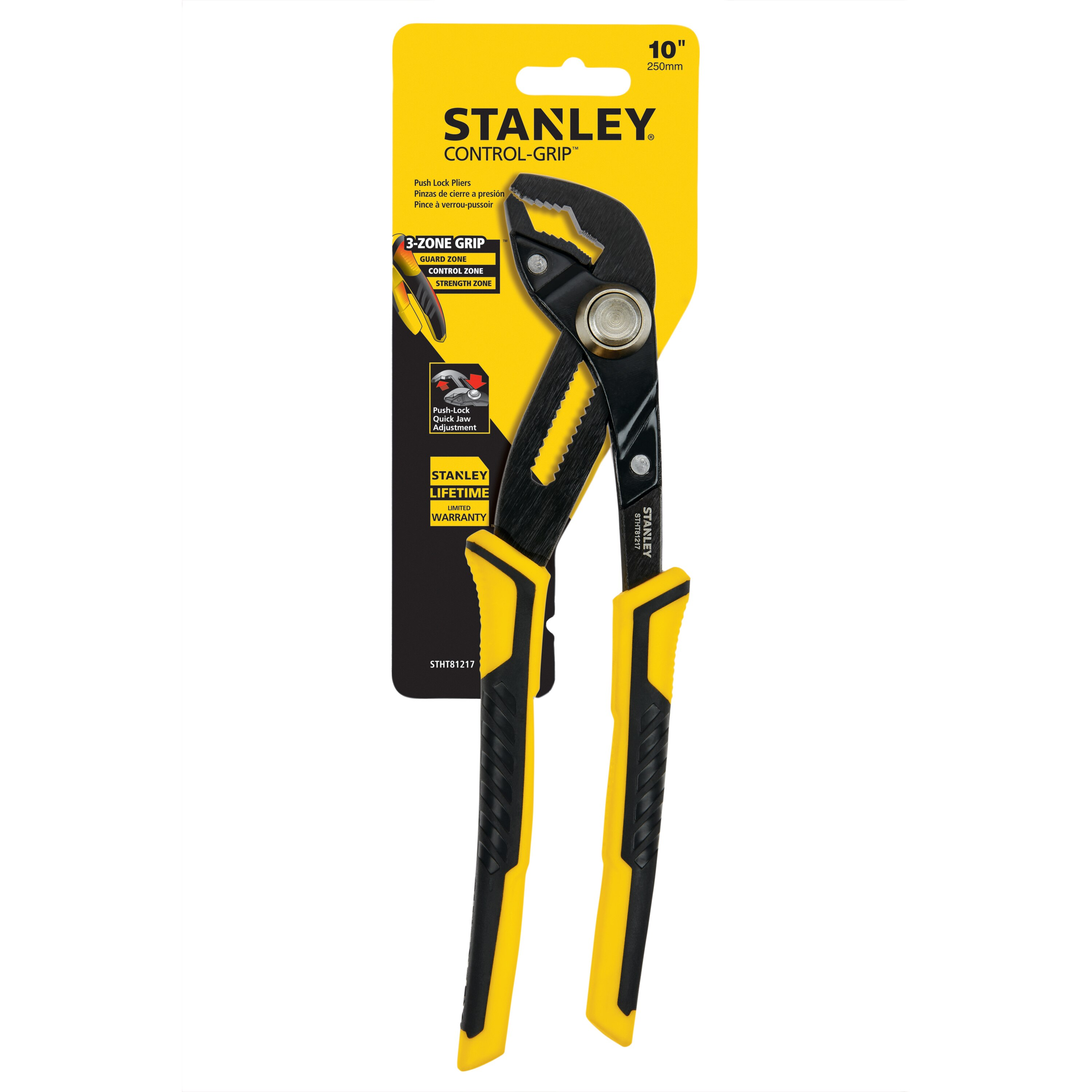 Stanley Tools - 10 in Push Lock Pliers - STHT81217