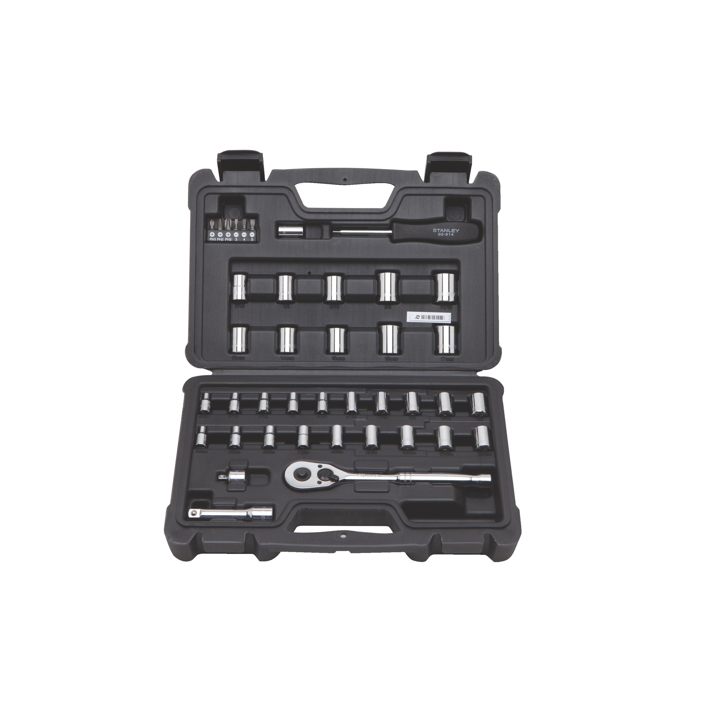 Stanley Tools - 40 pc 14 in  38 in Drive Mechanics Tool Set - STMT71648