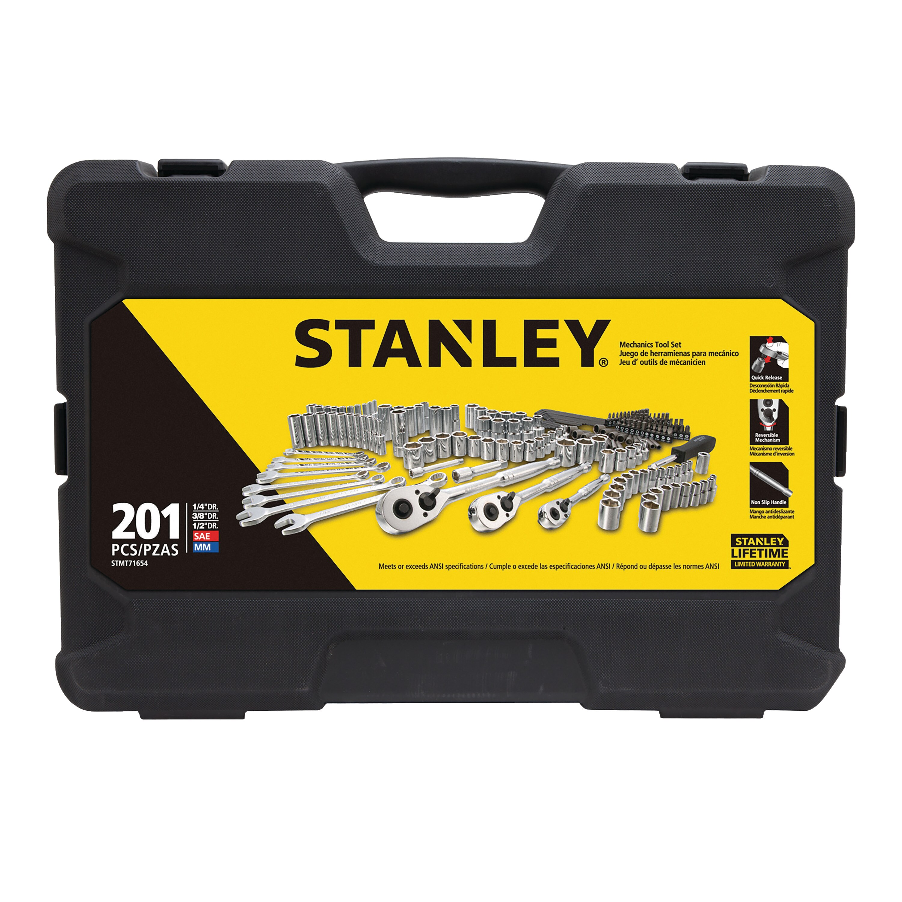 Stanley Tools - 201 pc Mechanics Tool Set - STMT71654