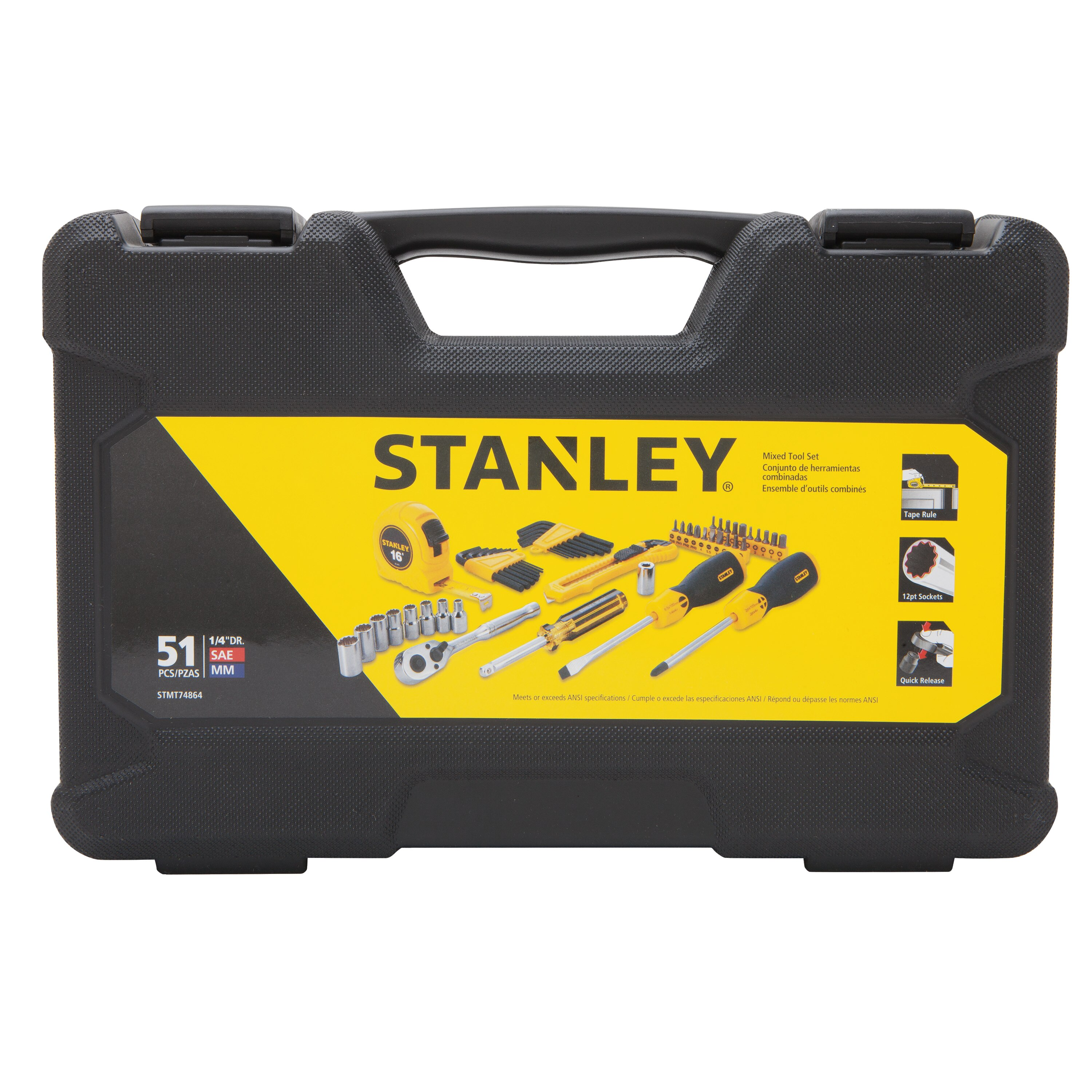 Stanley Tools - 51 pc Mixed Tool Set - STMT74864