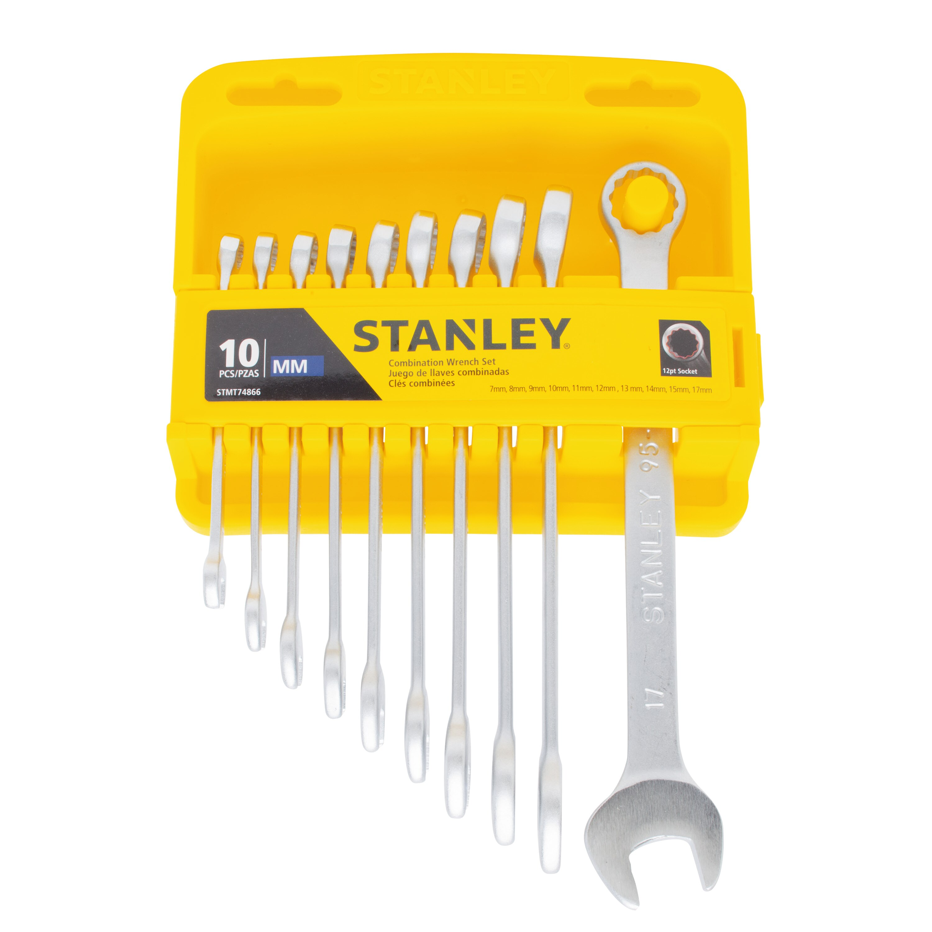 Stanley Tools - 10 pc Metric Combination Wrench Set - STMT74866