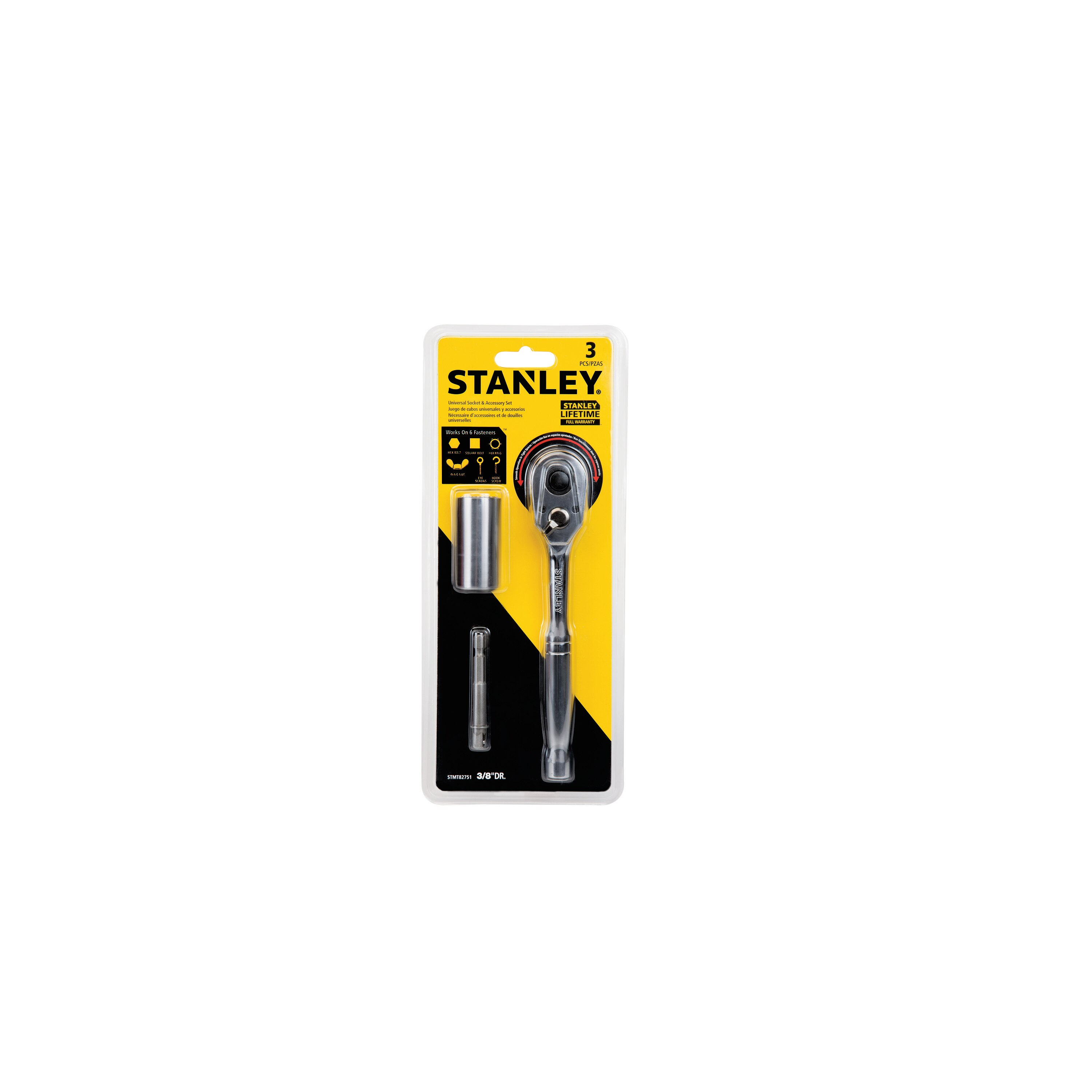 Stanley Tools - 3 pc Universal Socket  Accessory Set - STMT82751