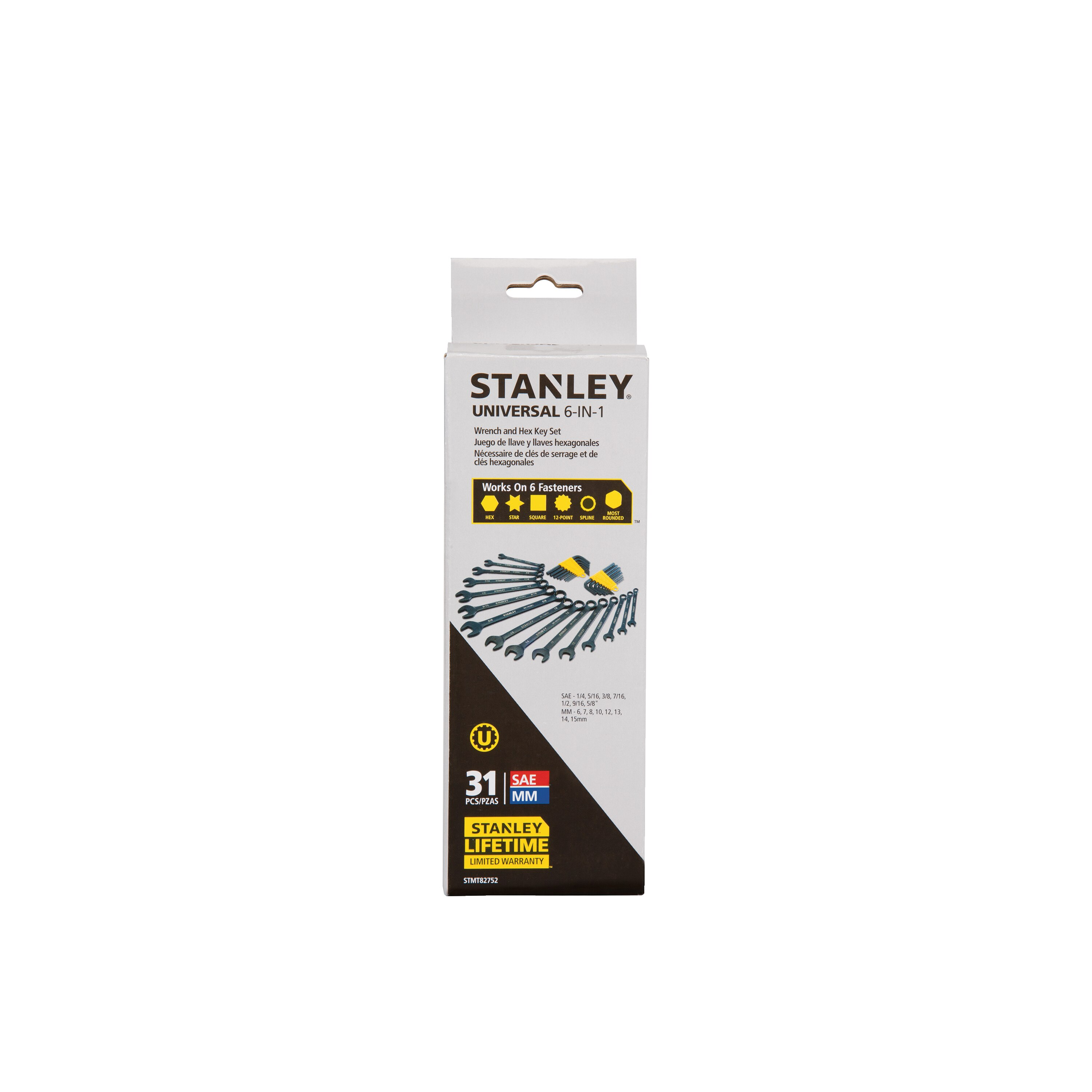 Stanley Tools - 31 pc Wrench  Hex Key Set - STMT82752