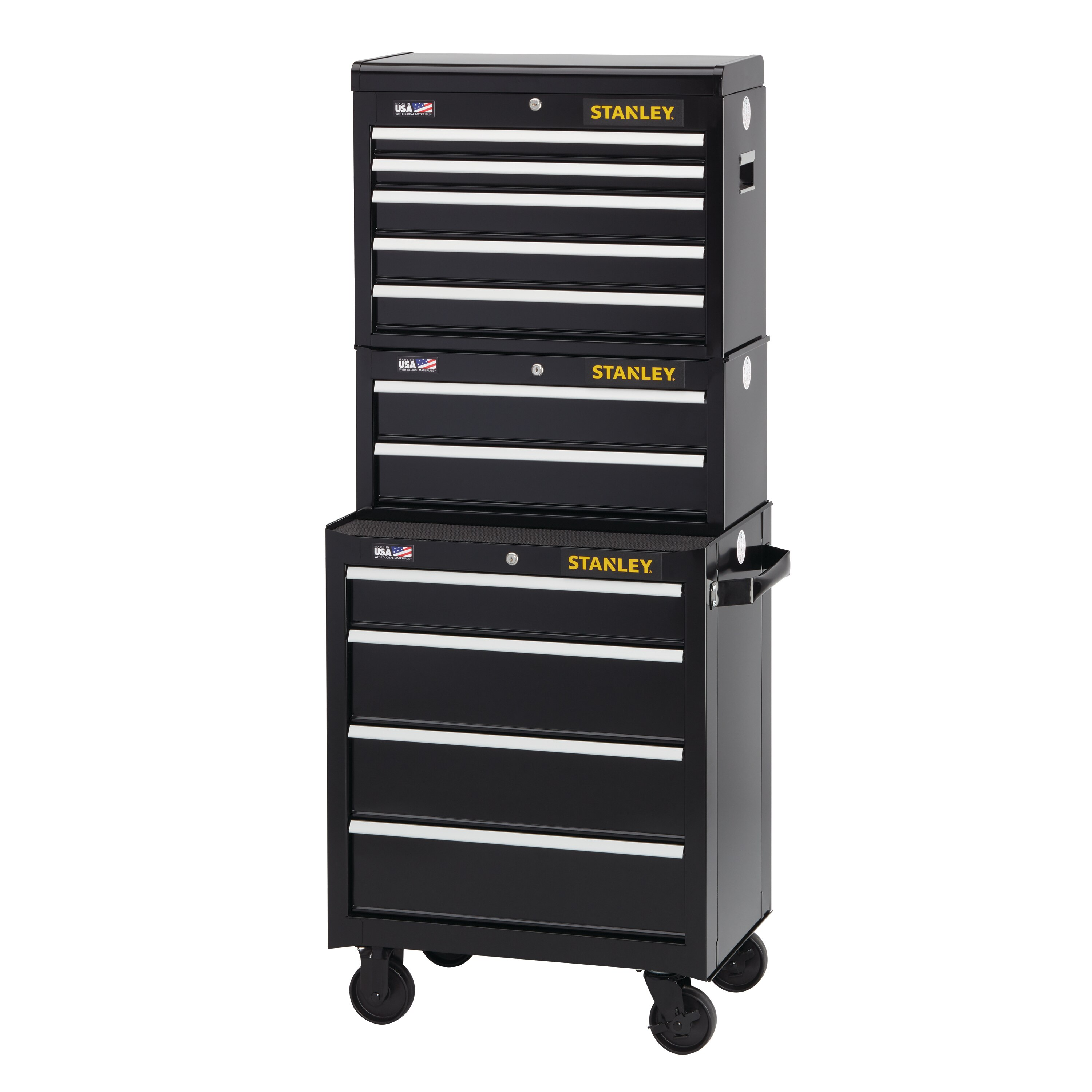 Stanley Tools - 300 Series 26 in W 2Drawer Middle Tool Chest - STST22623BK