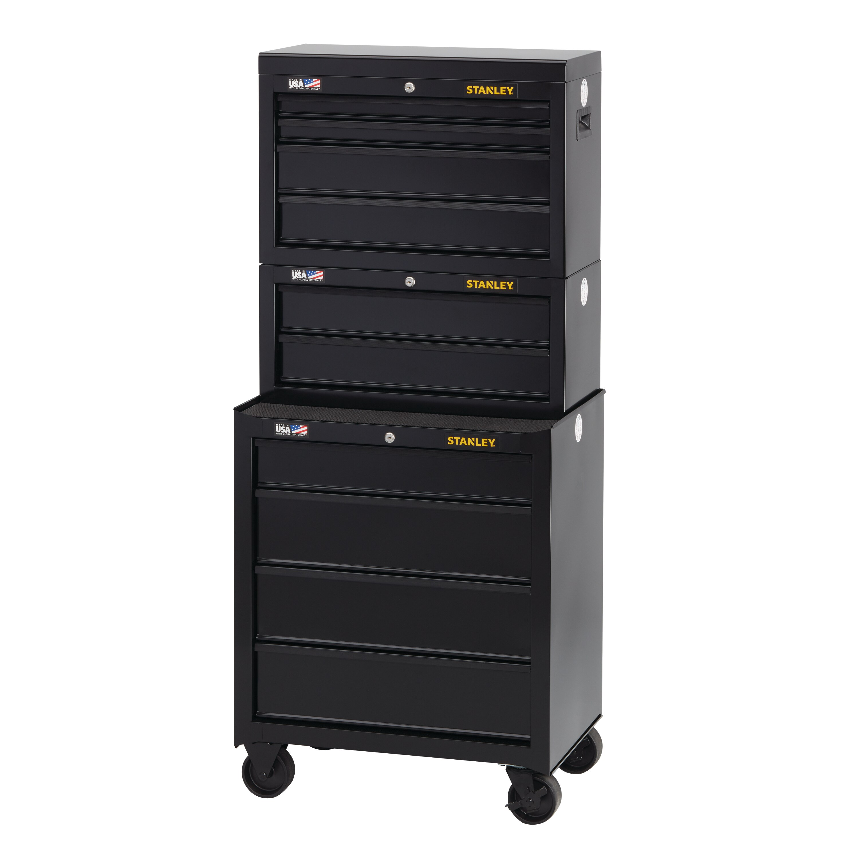 Stanley Tools - 100 Series 26 in W 4Drawer Rolling Tool Cabinet - STST22742BK