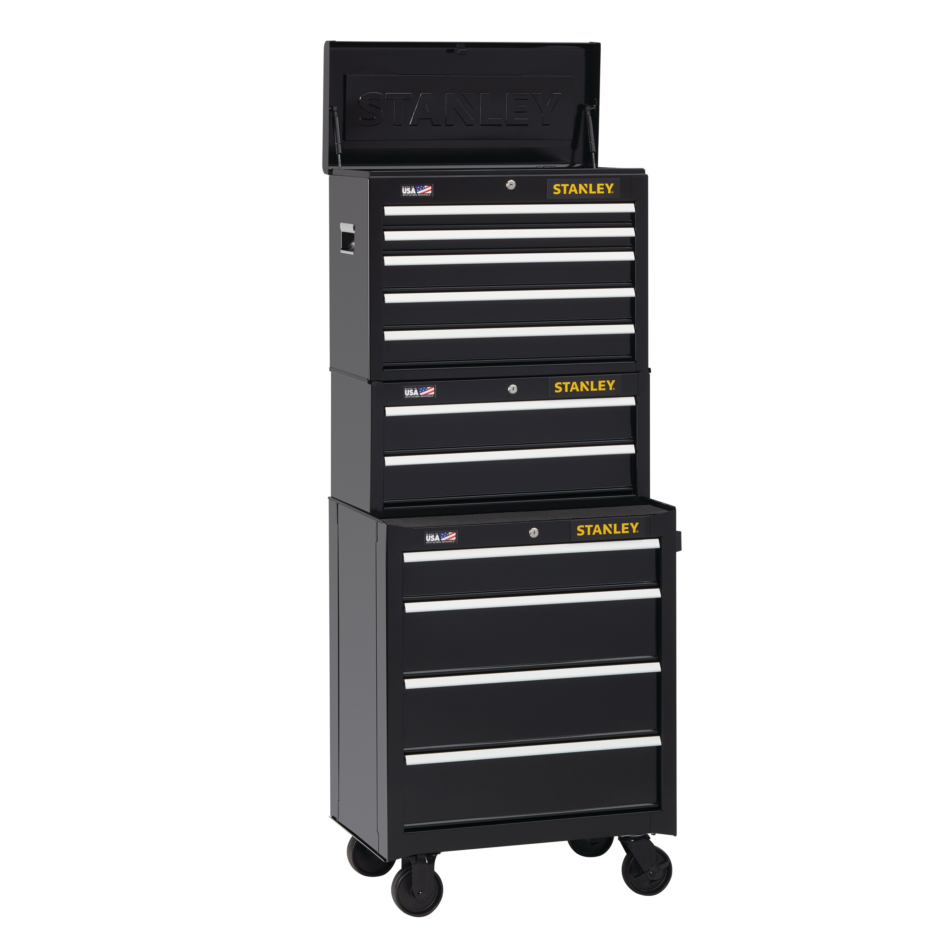 Stanley Tools - 300 Series 26 in W 4Drawer Rolling Tool Cabinet - STST22744BK