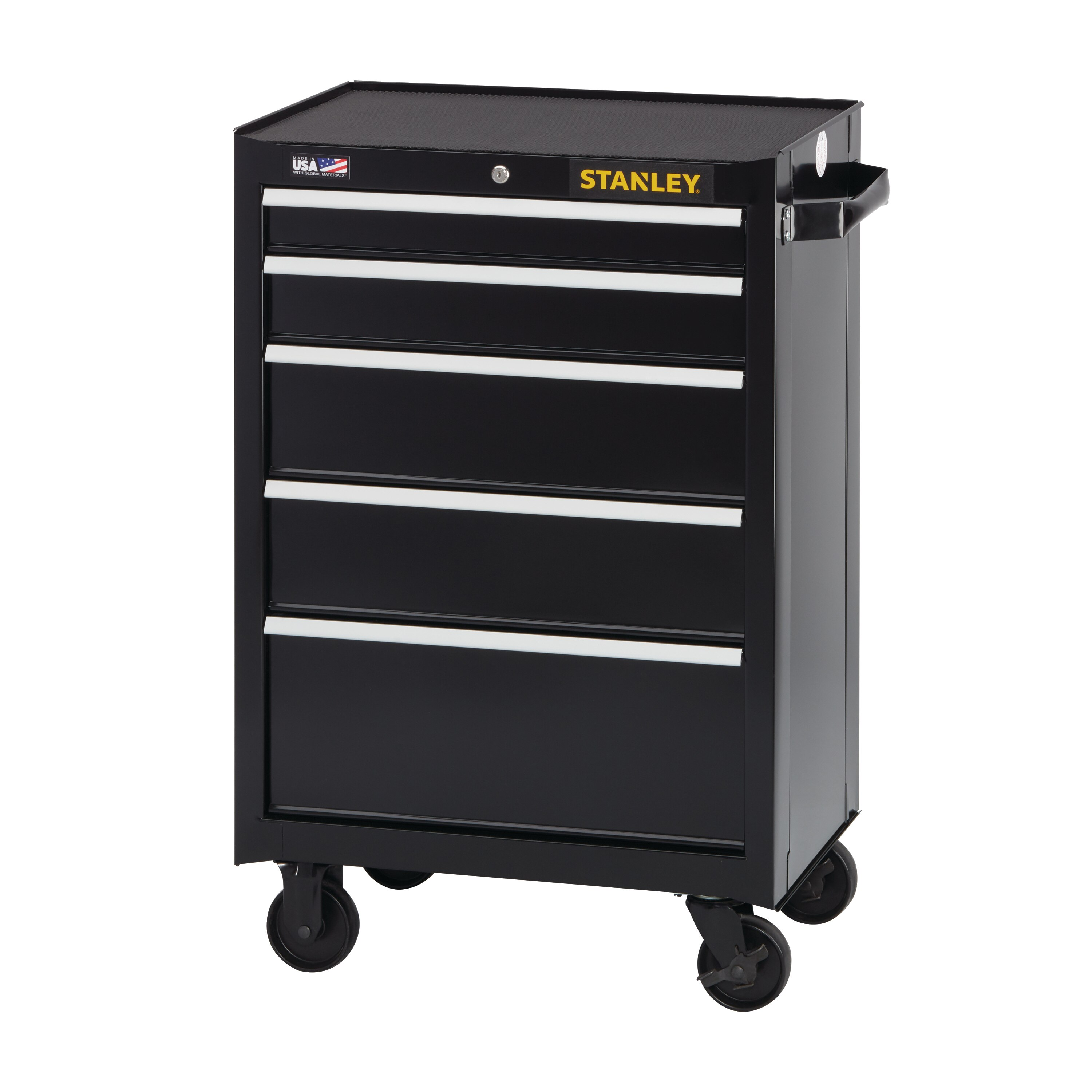 Stanley Tools - 300 Series 26 in W 3 5Drawer Rolling Tool Cabinet - STST22753BK