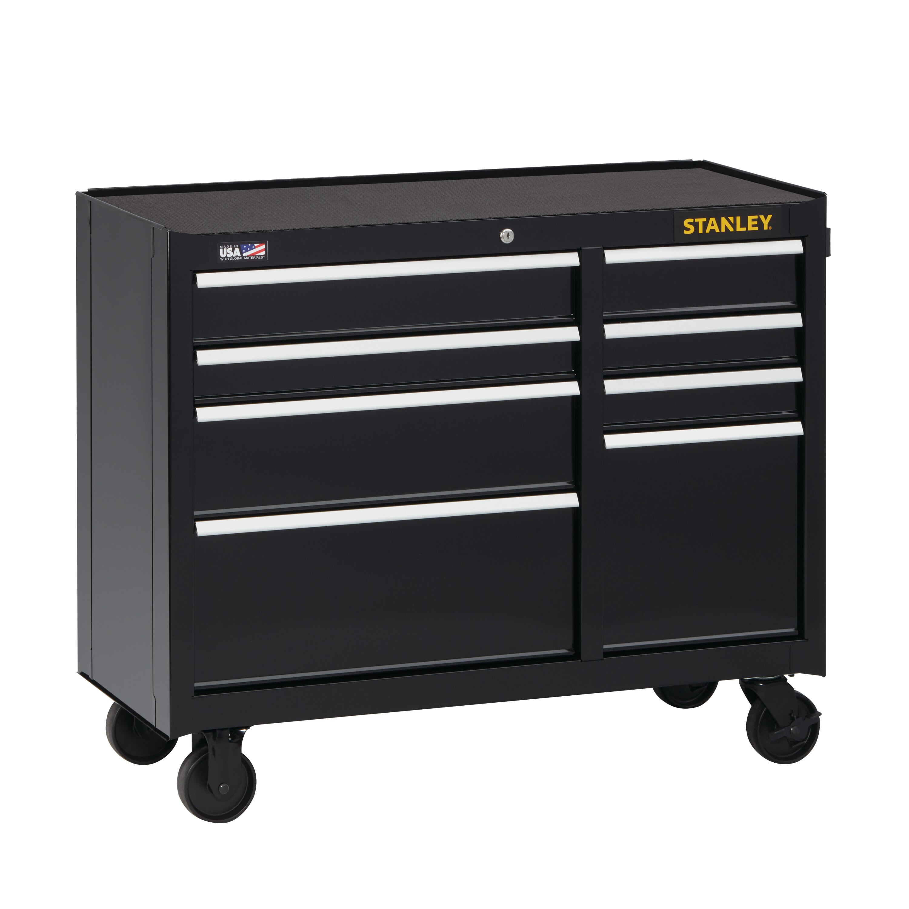 Stanley Tools - 300 Series 41 in W 8Drawer Rolling Tool Cabinet - STST24181BK