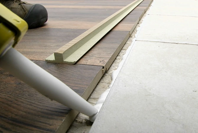floor molding how to install a laminate floor stanley tools