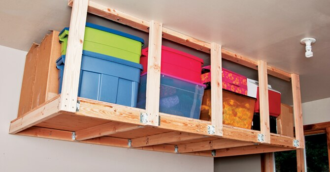How to install overhead garage storage diy stanley tools overhead solutioingenieria Image collections