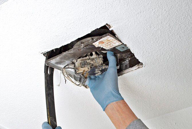 how to replace a bathroom exhaust fan